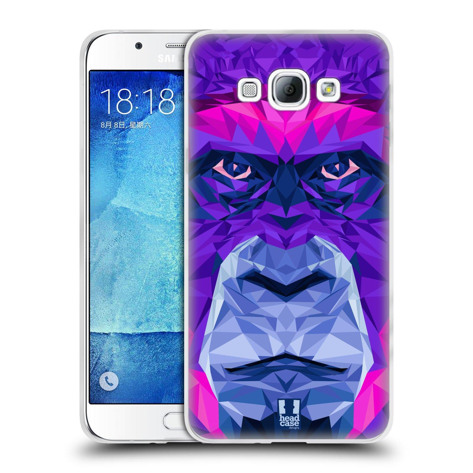 HEAD CASE silikonový obal na mobil Samsung Galaxy A8 vzor Geometrická zvířata 2 Orangutan