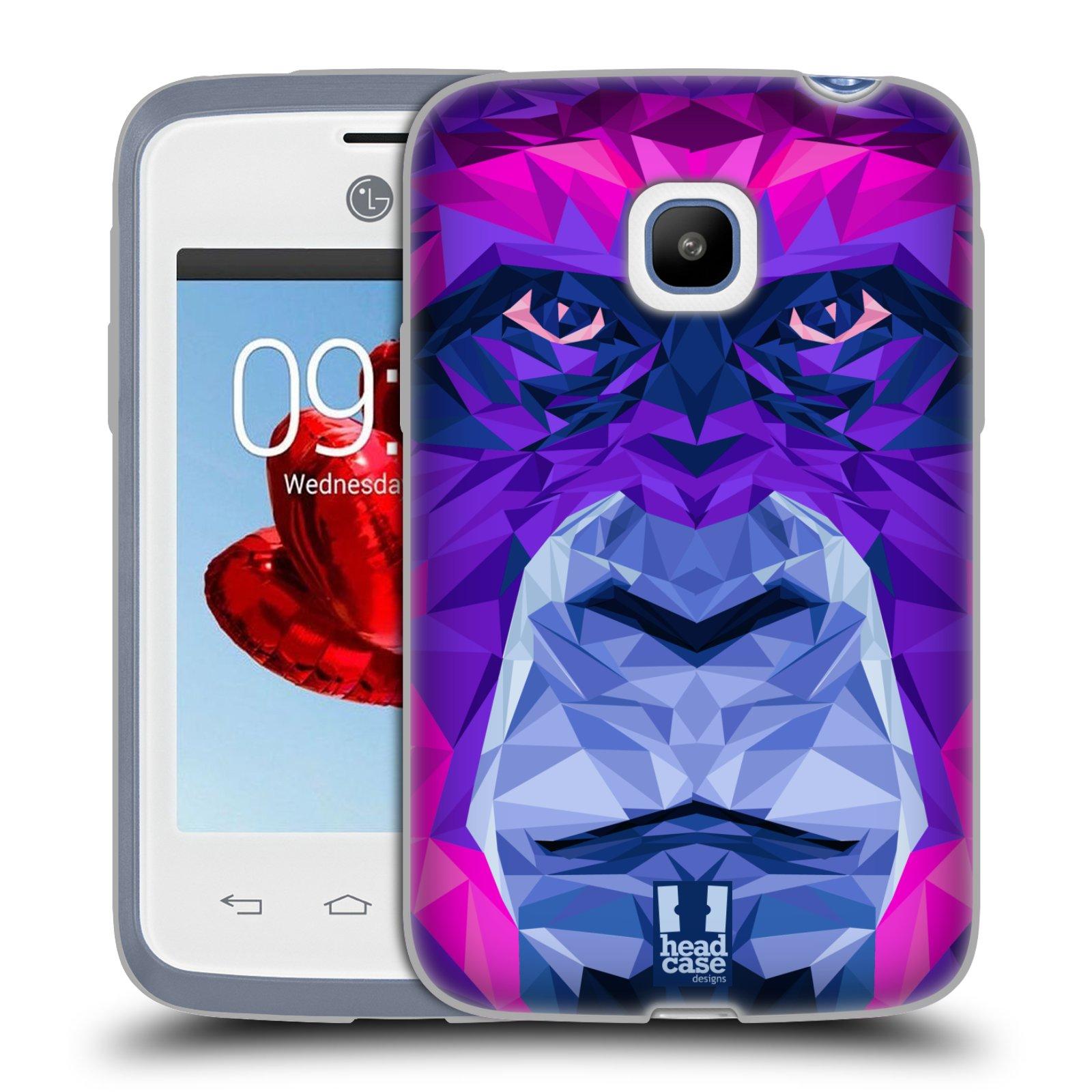 HEAD CASE silikonový obal na mobil LG L20 vzor Geometrická zvířata 2 Orangutan