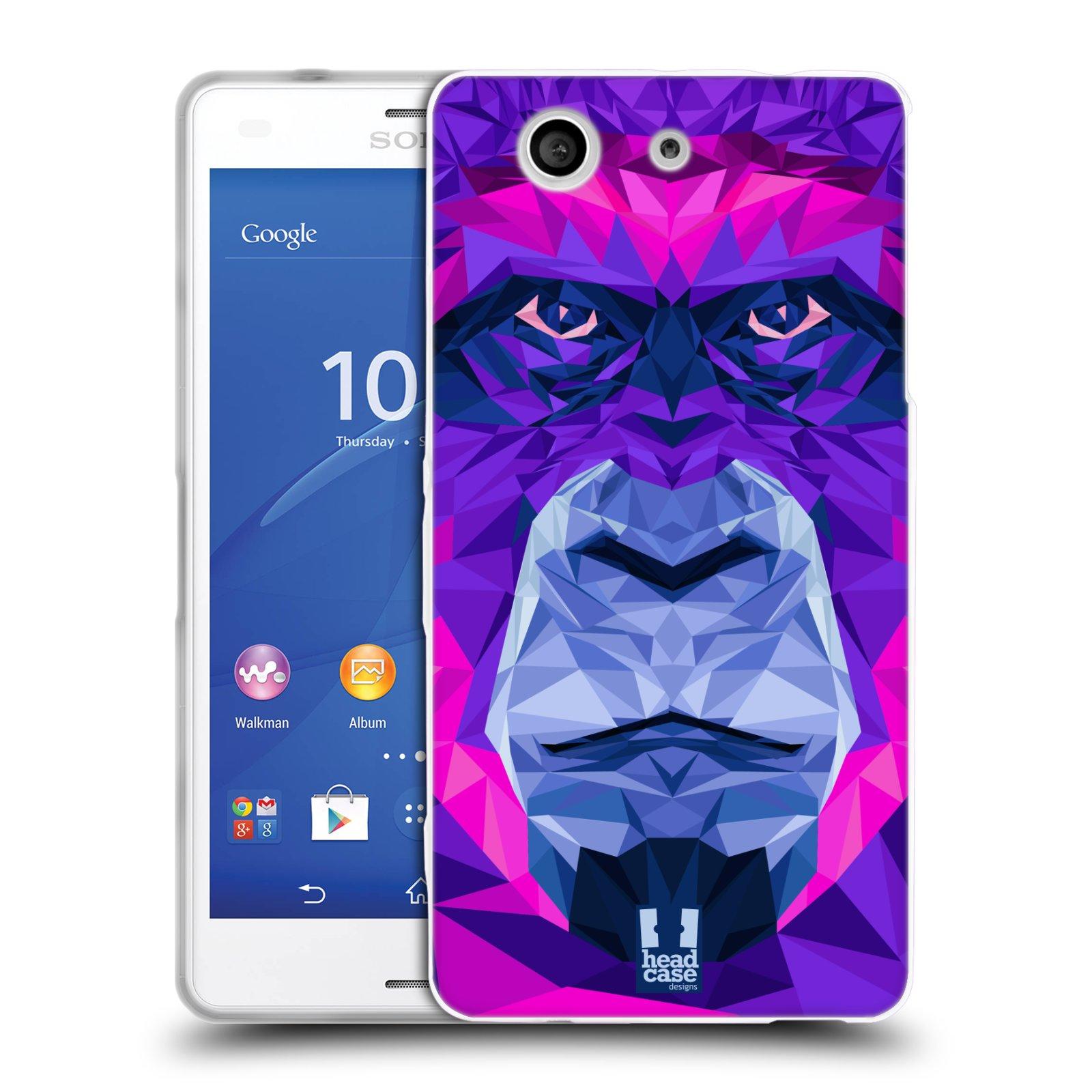 HEAD CASE silikonový obal na mobil Sony Xperia Z3 COMPACT (D5803) vzor Geometrická zvířata 2 Orangutan