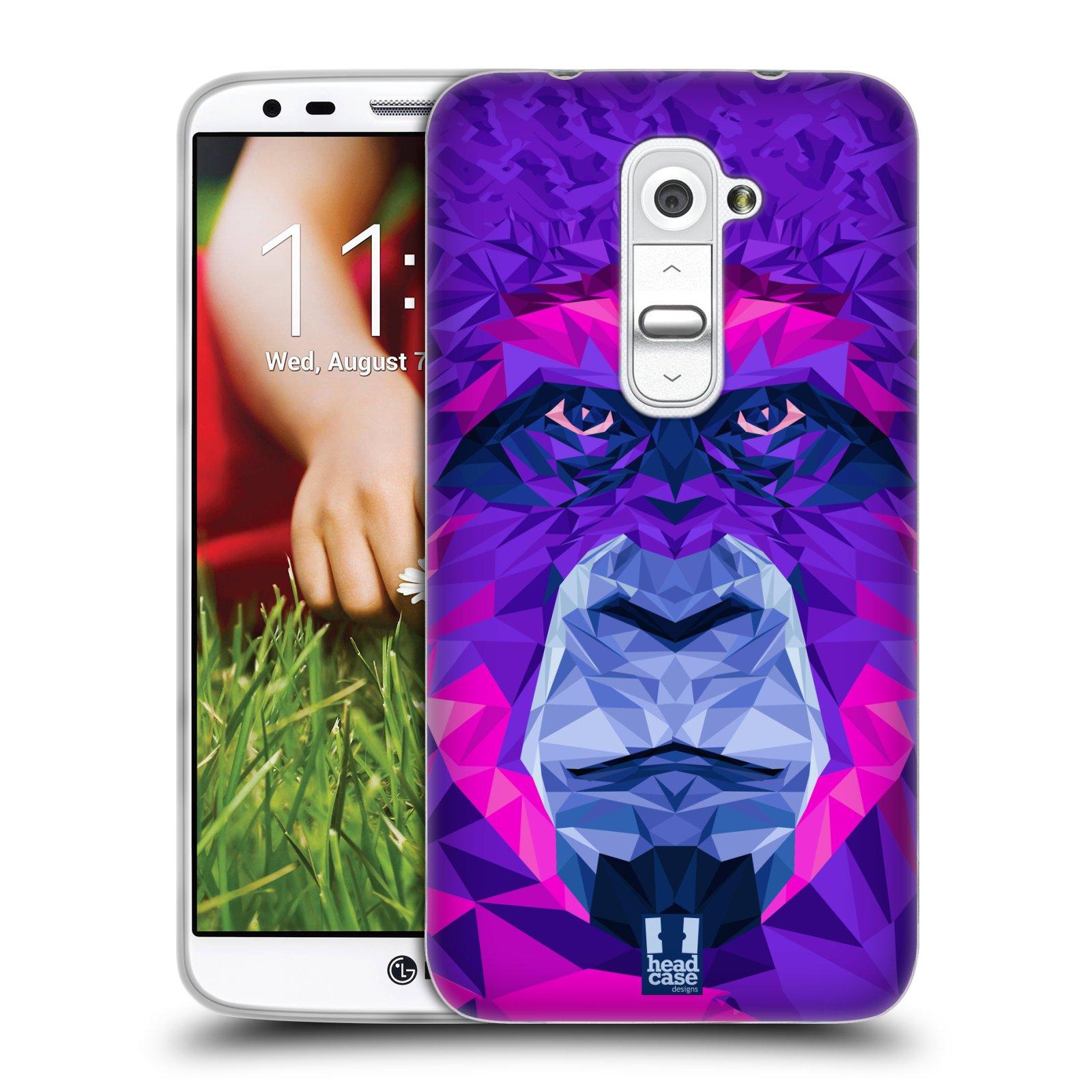HEAD CASE silikonový obal na mobil LG G2 vzor Geometrická zvířata 2 Orangutan