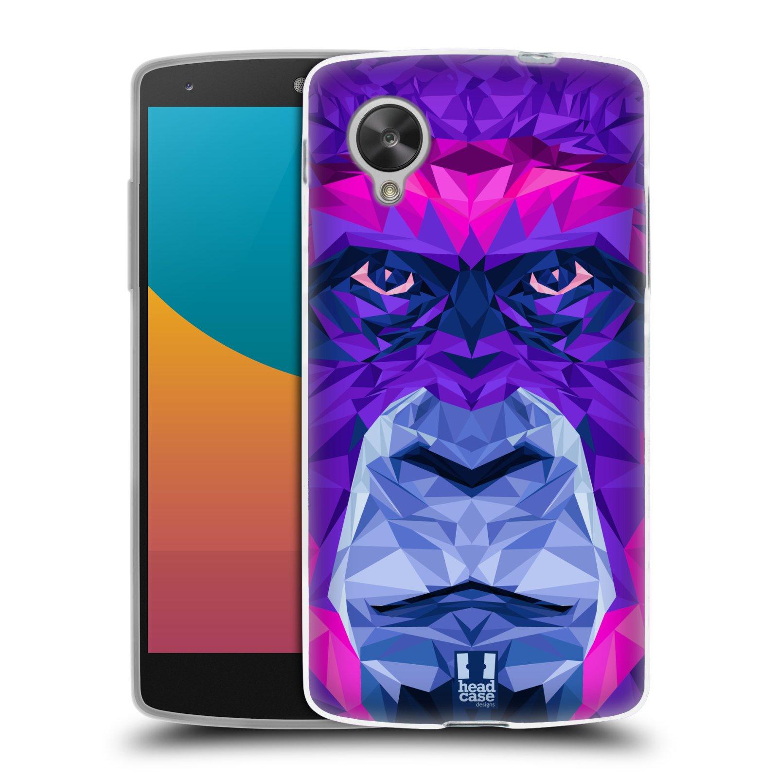 HEAD CASE silikonový obal na mobil LG NEXUS 5 (D821) vzor Geometrická zvířata 2 Orangutan