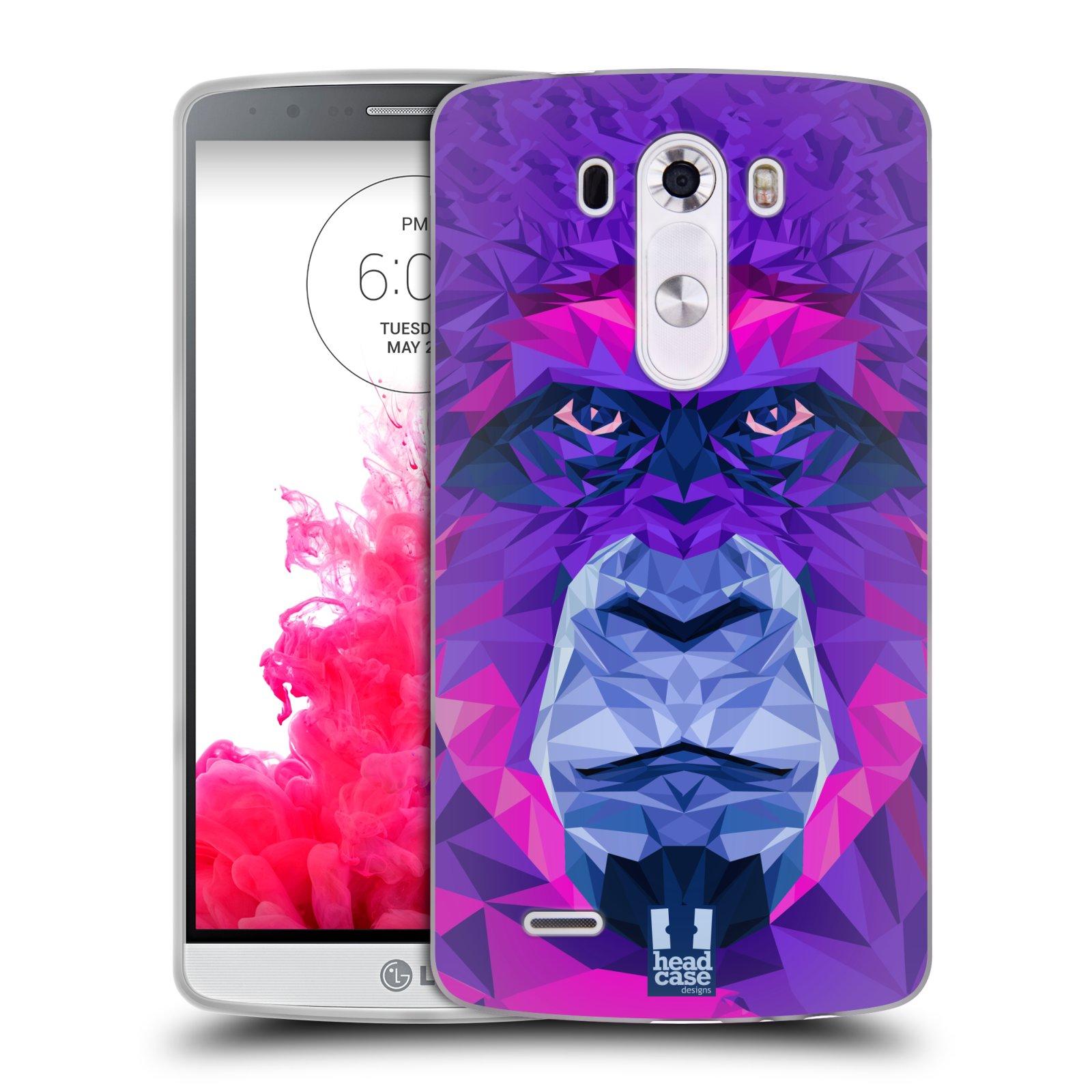 HEAD CASE silikonový obal na mobil LG G3 vzor Geometrická zvířata 2 Orangutan