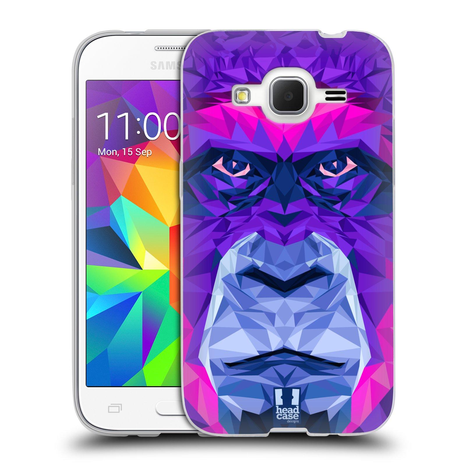 HEAD CASE silikonový obal na mobil Samsung Galaxy Core Prime (G360) vzor Geometrická zvířata 2 Orangutan