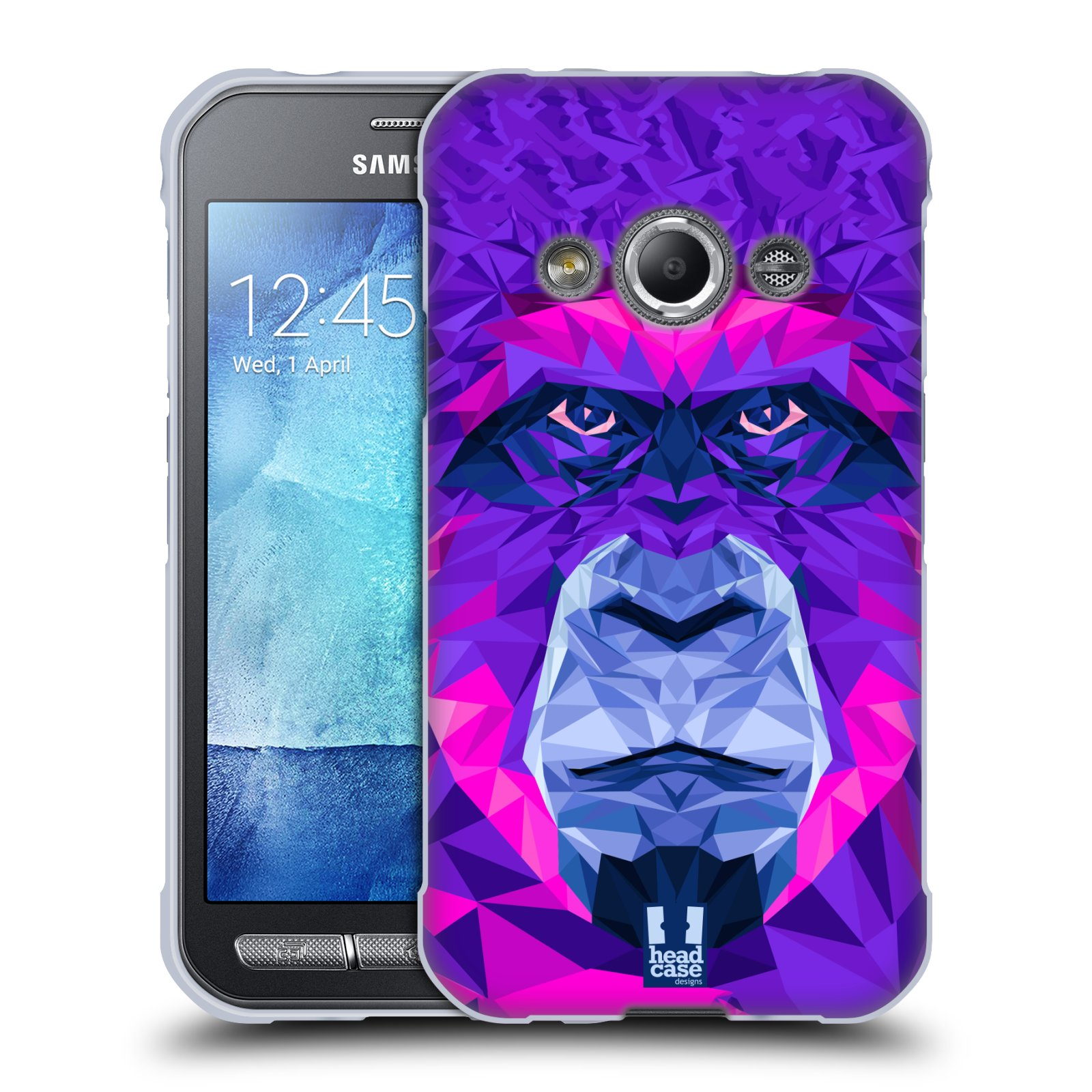 HEAD CASE silikonový obal na mobil Samsung Galaxy Xcover 3 vzor Geometrická zvířata 2 Orangutan
