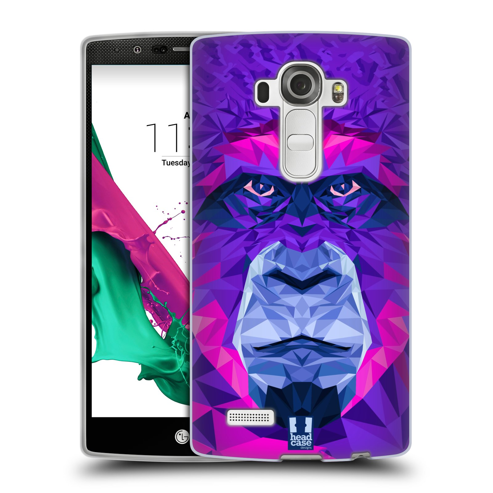 HEAD CASE silikonový obal na mobil LG G4 vzor Geometrická zvířata 2 Orangutan