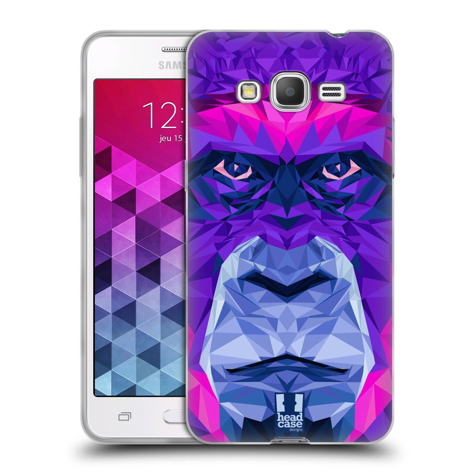 HEAD CASE silikonový obal na mobil Samsung Galaxy GRAND PRIME vzor Geometrická zvířata 2 Orangutan
