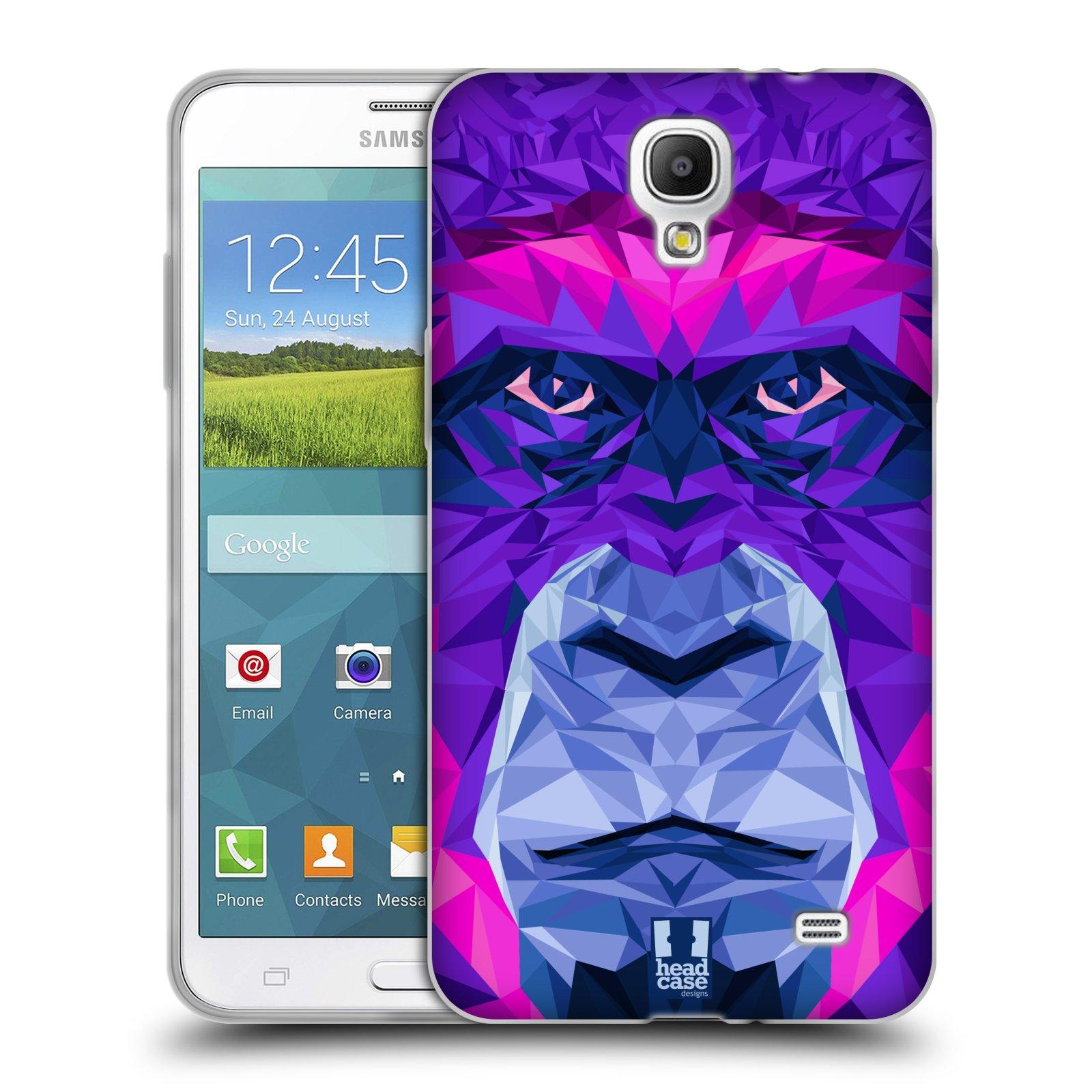 HEAD CASE silikonový obal na mobil Samsung Galaxy Mega 2 vzor Geometrická zvířata 2 Orangutan