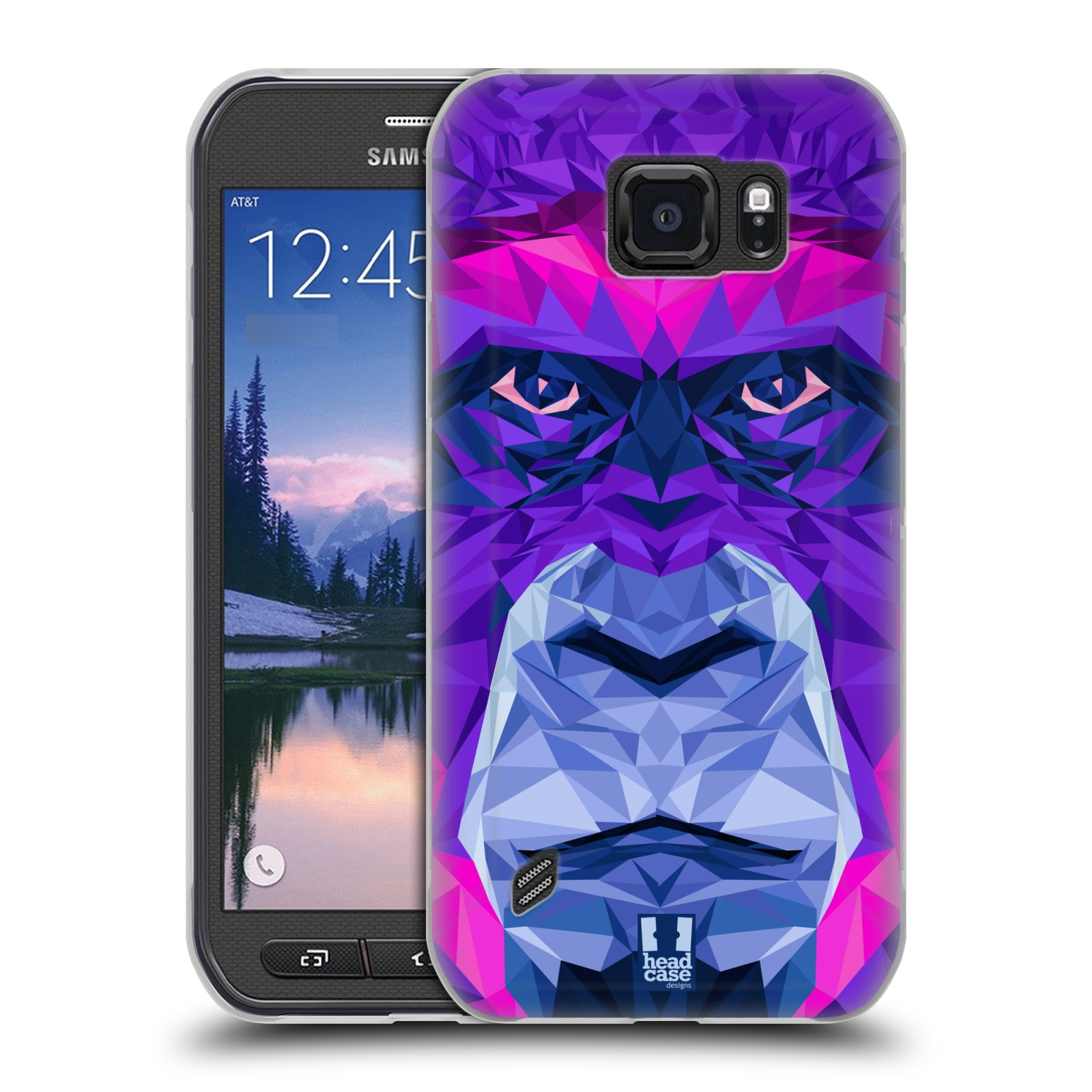 HEAD CASE silikonový obal na mobil Samsung Galaxy S6 ACTIVE vzor Geometrická zvířata 2 Orangutan