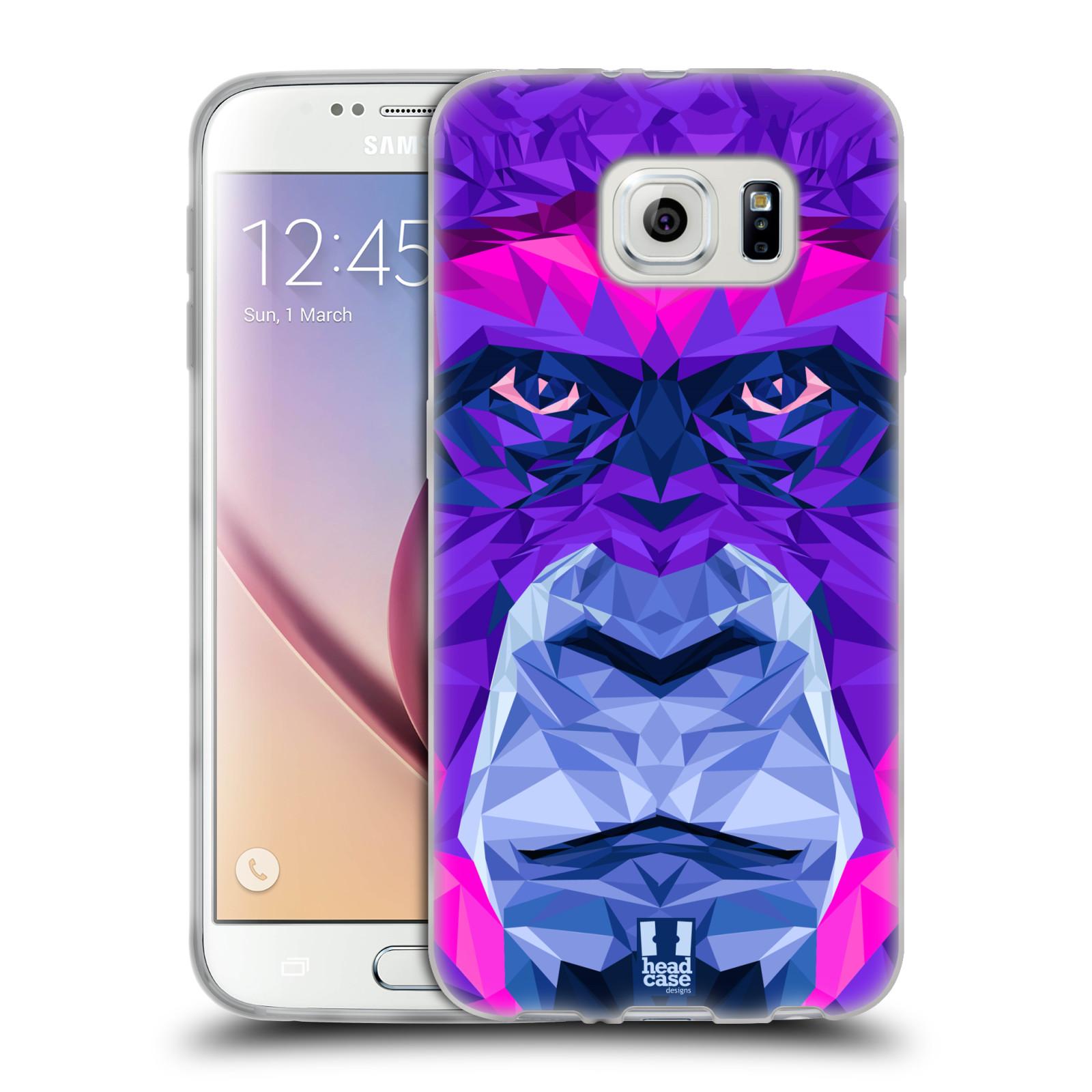 HEAD CASE silikonový obal na mobil Samsung Galaxy S6 vzor Geometrická zvířata 2 Orangutan