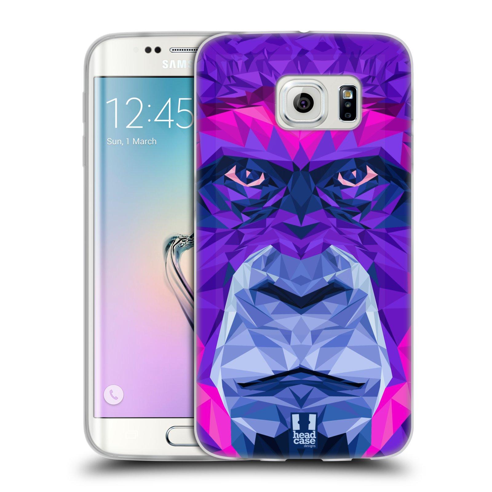 HEAD CASE silikonový obal na mobil Samsung Galaxy S6 EDGE vzor Geometrická zvířata 2 Orangutan