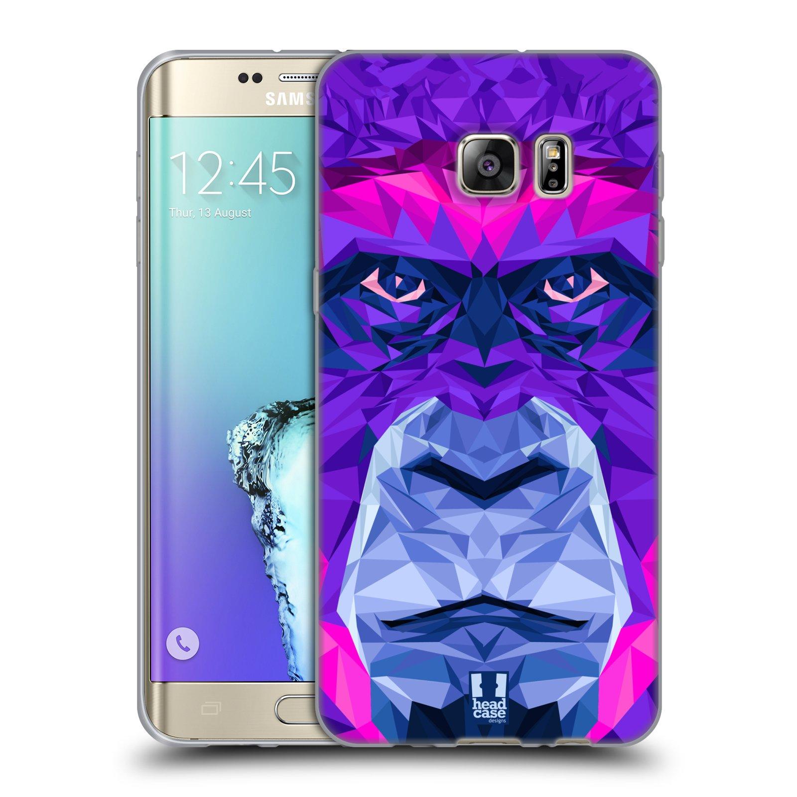 HEAD CASE silikonový obal na mobil Samsung Galaxy S6 EDGE PLUS vzor Geometrická zvířata 2 Orangutan