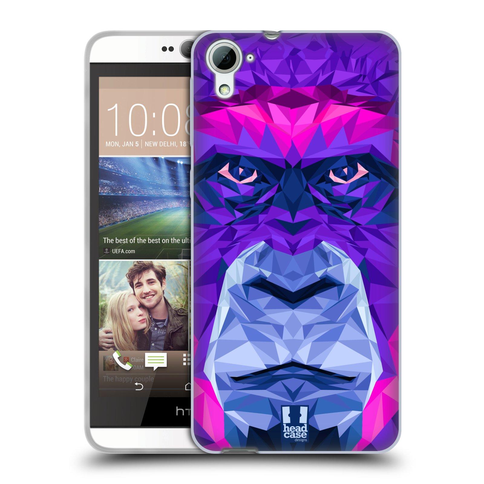 HEAD CASE silikonový obal na mobil HTC DESIRE 826 vzor Geometrická zvířata 2 Orangutan