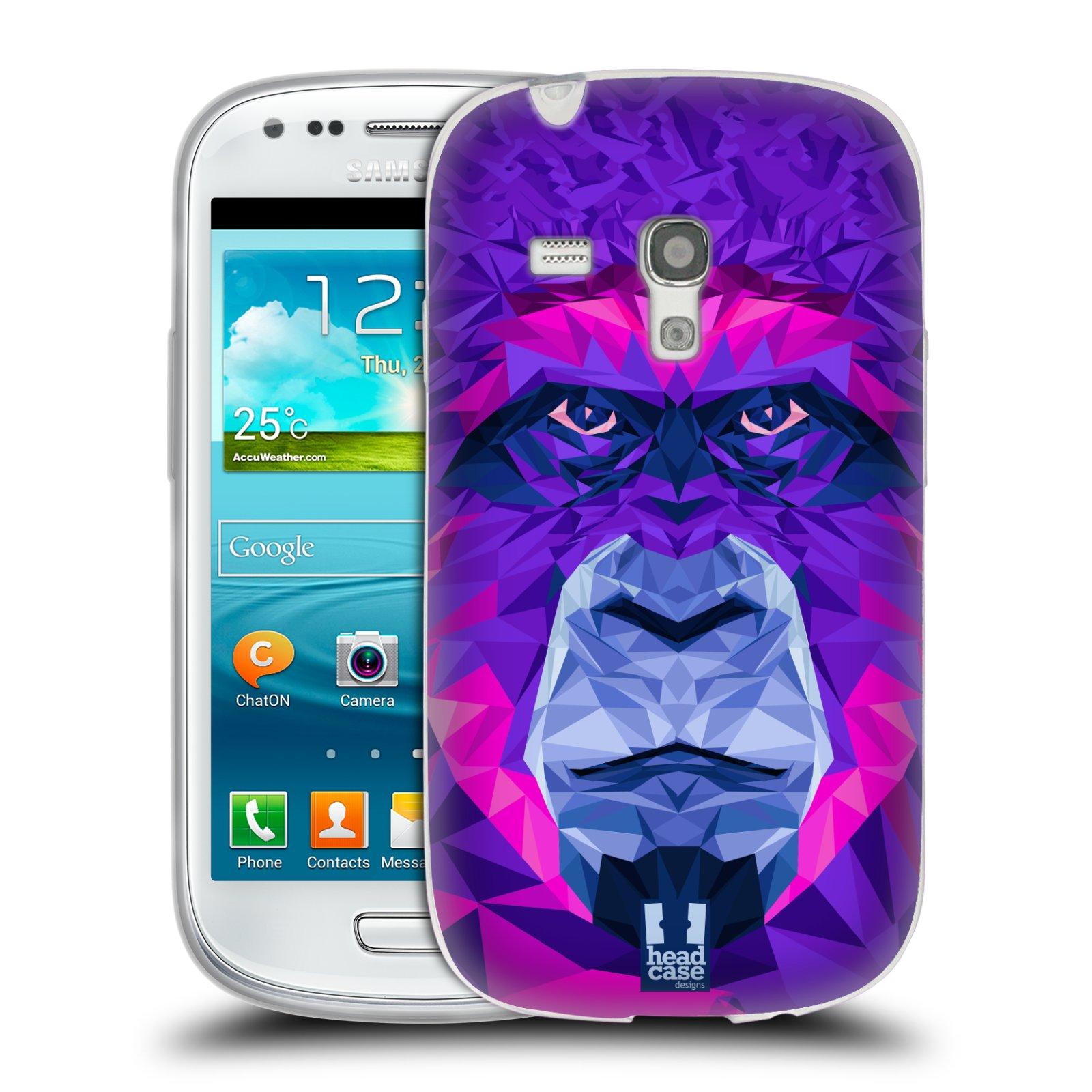 HEAD CASE silikonový obal na mobil Samsung Galaxy S3 MINI i8190 vzor Geometrická zvířata 2 Orangutan