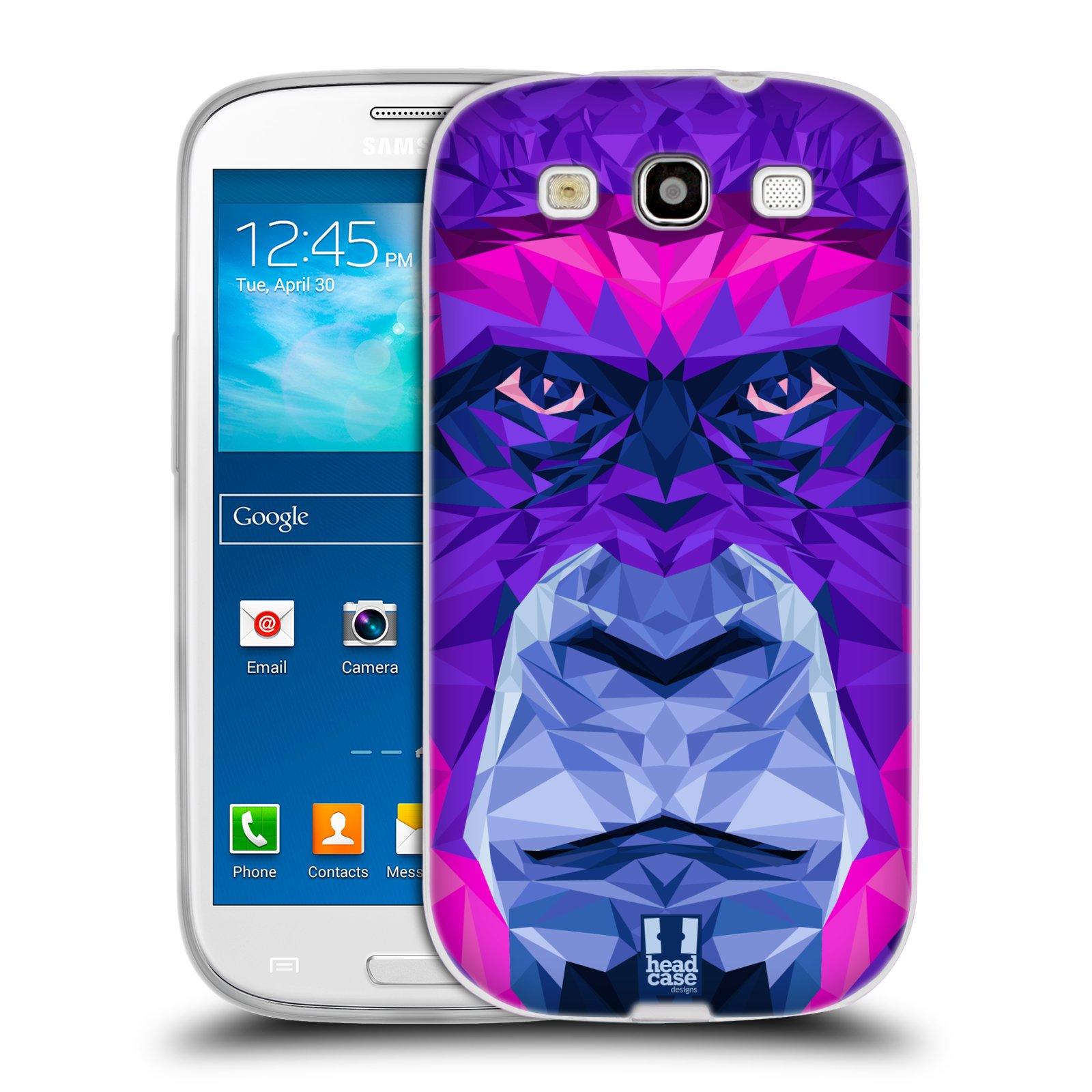HEAD CASE silikonový obal na mobil Samsung Galaxy S3 i9300 vzor Geometrická zvířata 2 Orangutan