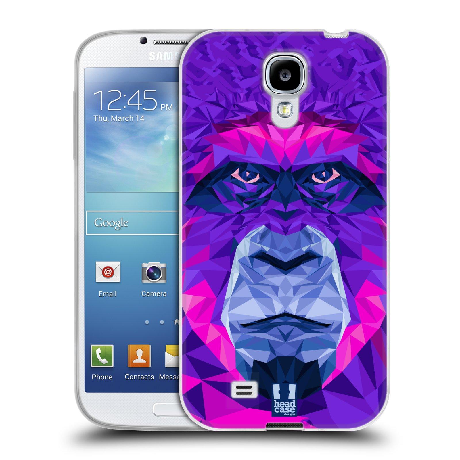 HEAD CASE silikonový obal na mobil Samsung Galaxy S4 i9500 vzor Geometrická zvířata 2 Orangutan