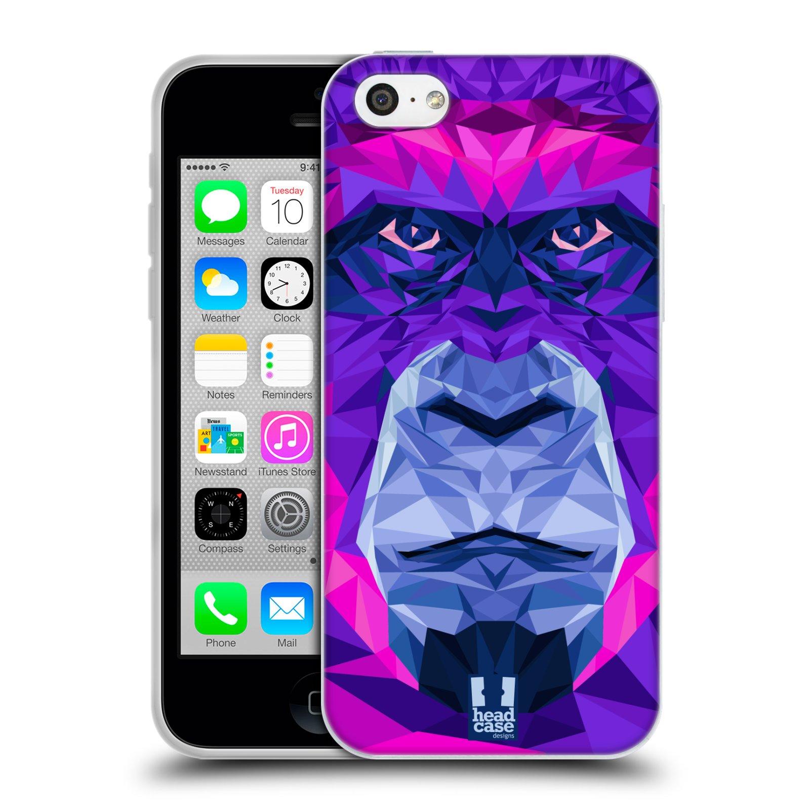 HEAD CASE silikonový obal na mobil Apple Iphone 5C vzor Geometrická zvířata 2 Orangutan