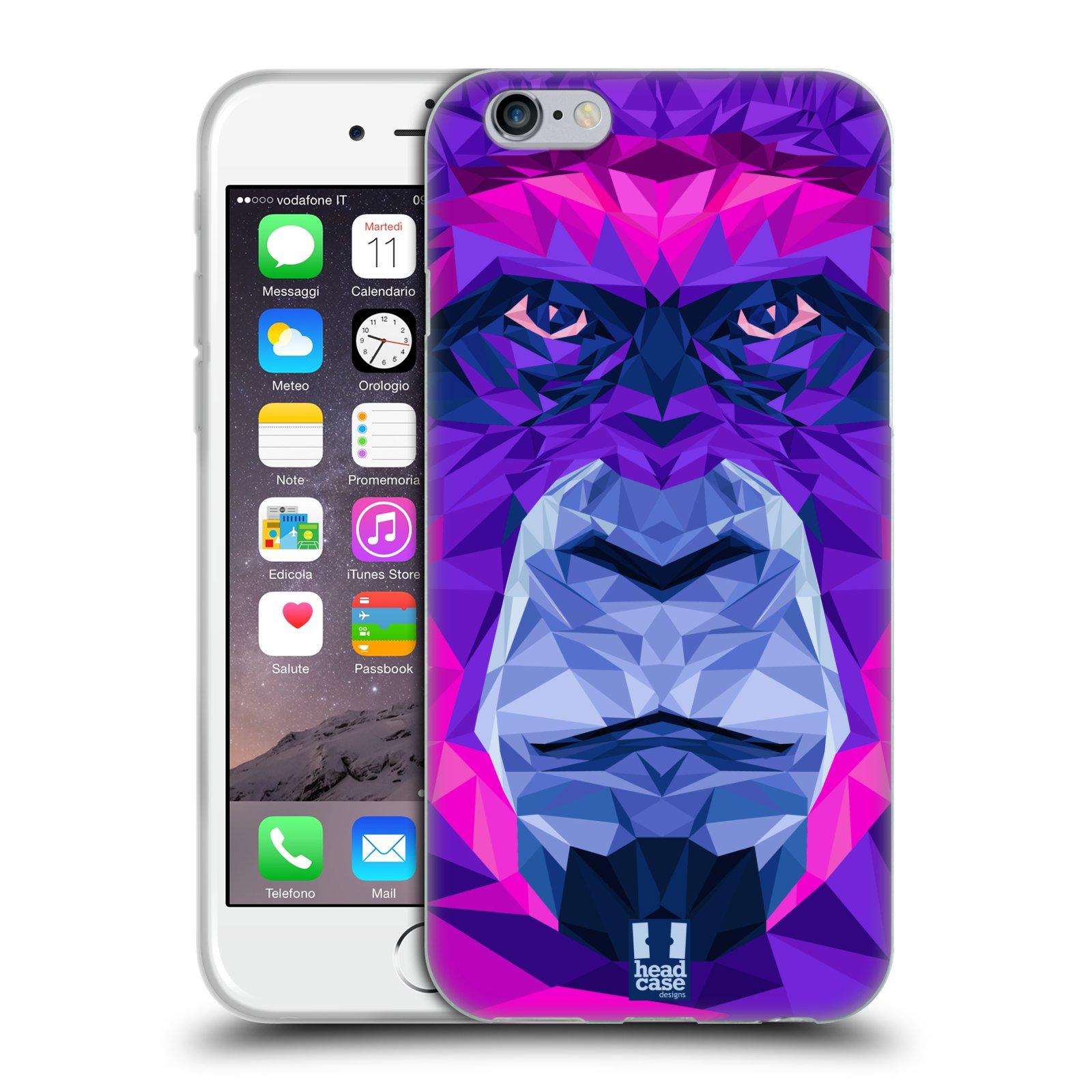HEAD CASE silikonový obal na mobil Apple Iphone 6/6S vzor Geometrická zvířata 2 Orangutan