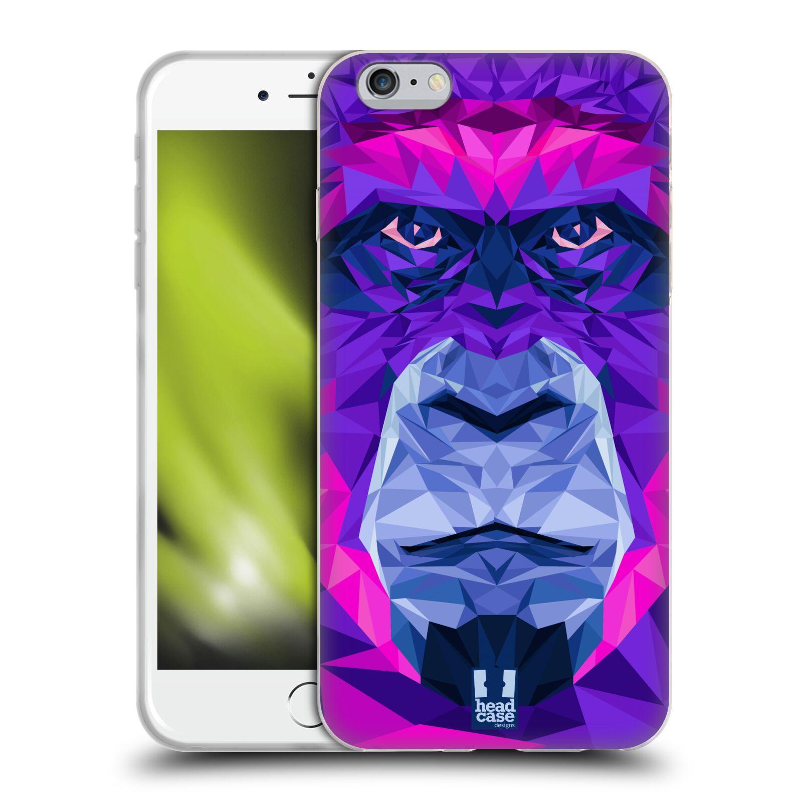 HEAD CASE silikonový obal na mobil Apple Iphone 6 PLUS/ 6S PLUS vzor Geometrická zvířata 2 Orangutan