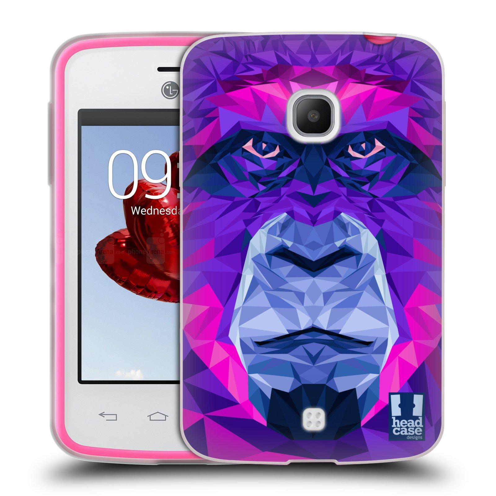 HEAD CASE silikonový obal na mobil LG L30 vzor Geometrická zvířata 2 Orangutan