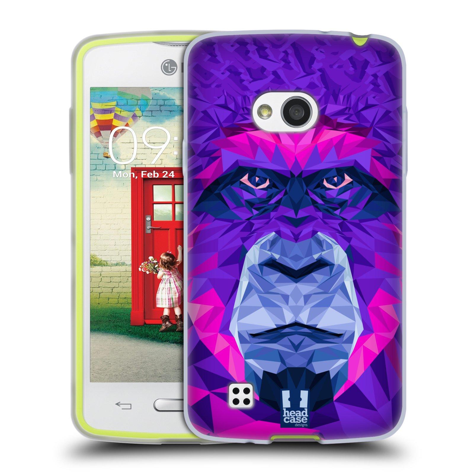 HEAD CASE silikonový obal na mobil LG L50 vzor Geometrická zvířata 2 Orangutan