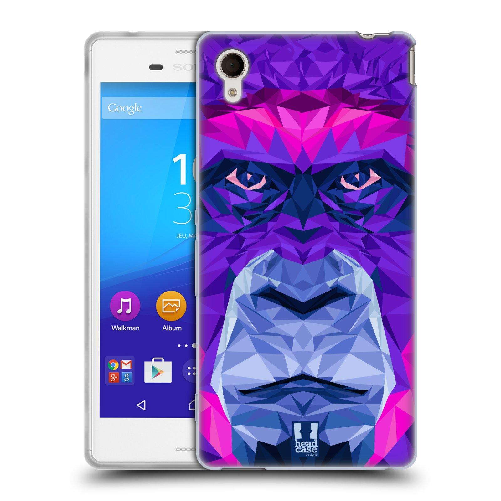 HEAD CASE silikonový obal na mobil Sony Xperia M4 AQUA vzor Geometrická zvířata 2 Orangutan