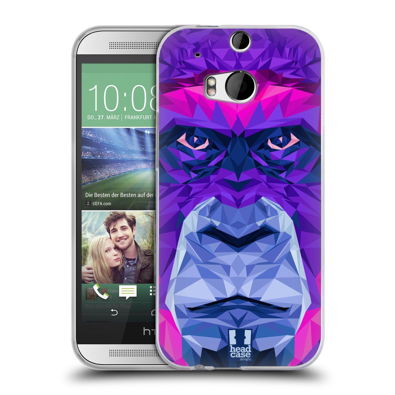 HEAD CASE silikonový obal na mobil HTC ONE (M8) vzor Geometrická zvířata 2 Orangutan