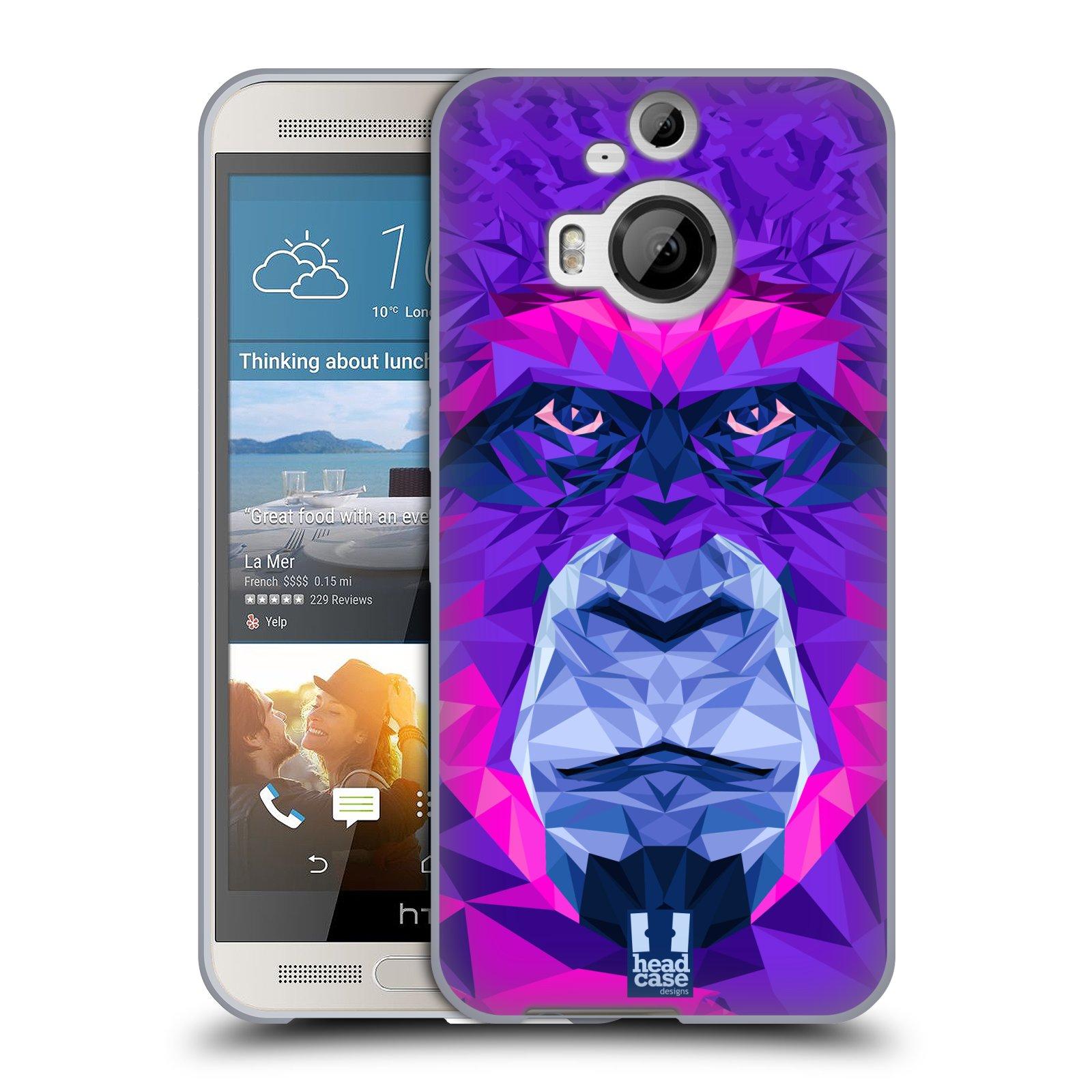 HEAD CASE silikonový obal na mobil HTC ONE M9+(PLUS) vzor Geometrická zvířata 2 Orangutan