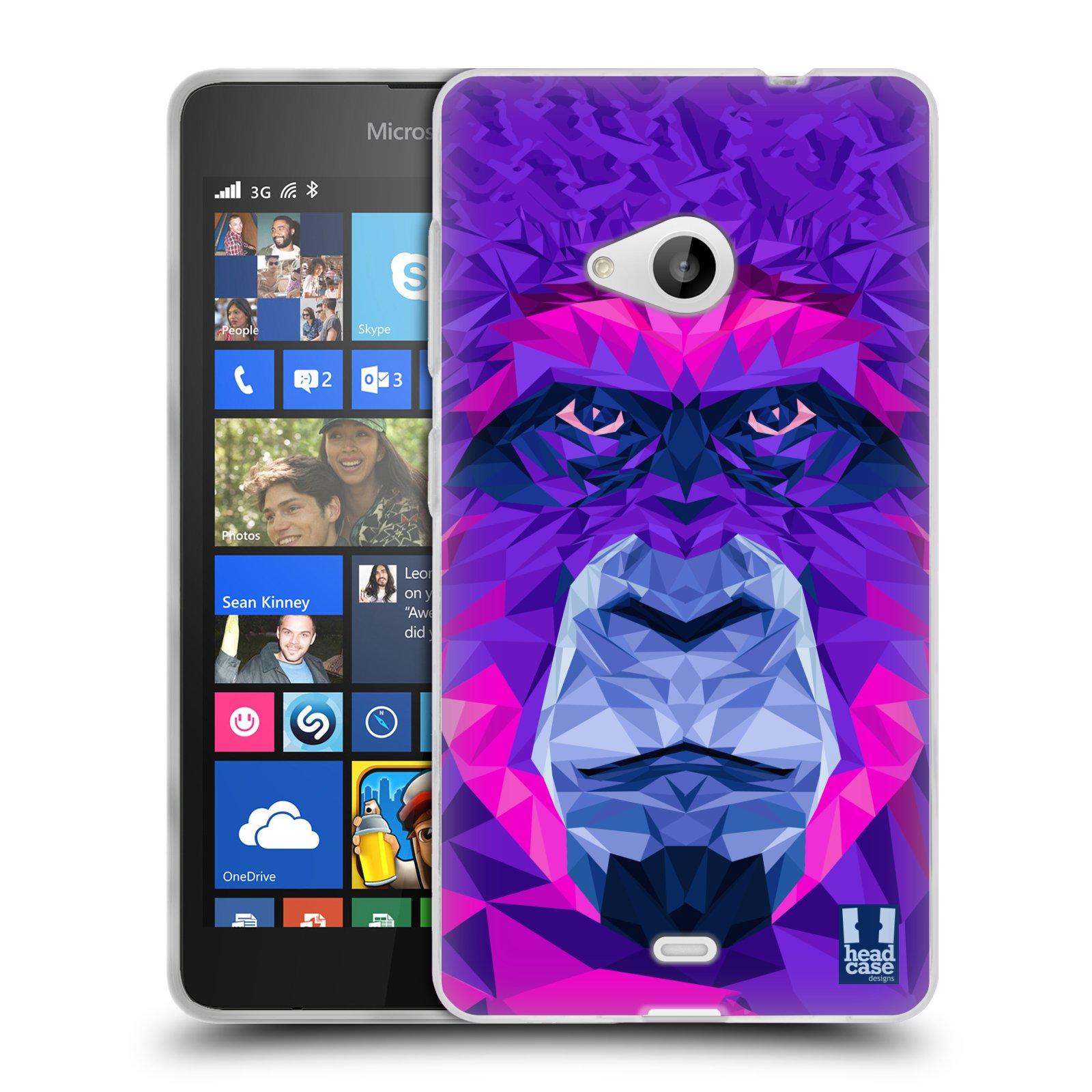 HEAD CASE silikonový obal na mobil Microsoft Lumia 535 / Lumia 535 DUAL vzor Geometrická zvířata 2 Orangutan