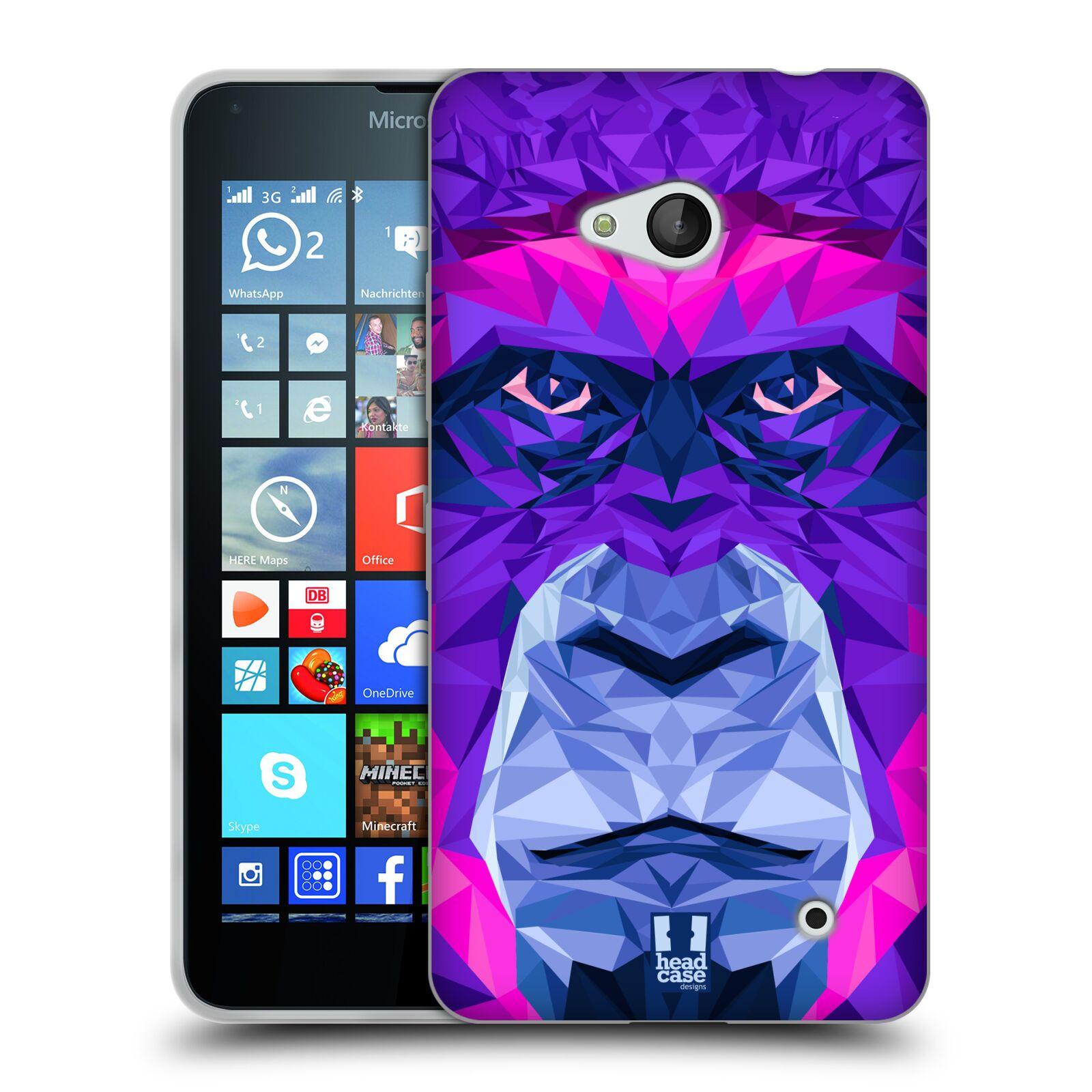 HEAD CASE silikonový obal na mobil Microsoft / Nokia Lumia 640 / Lumia 640 DUAL vzor Geometrická zvířata 2 Orangutan