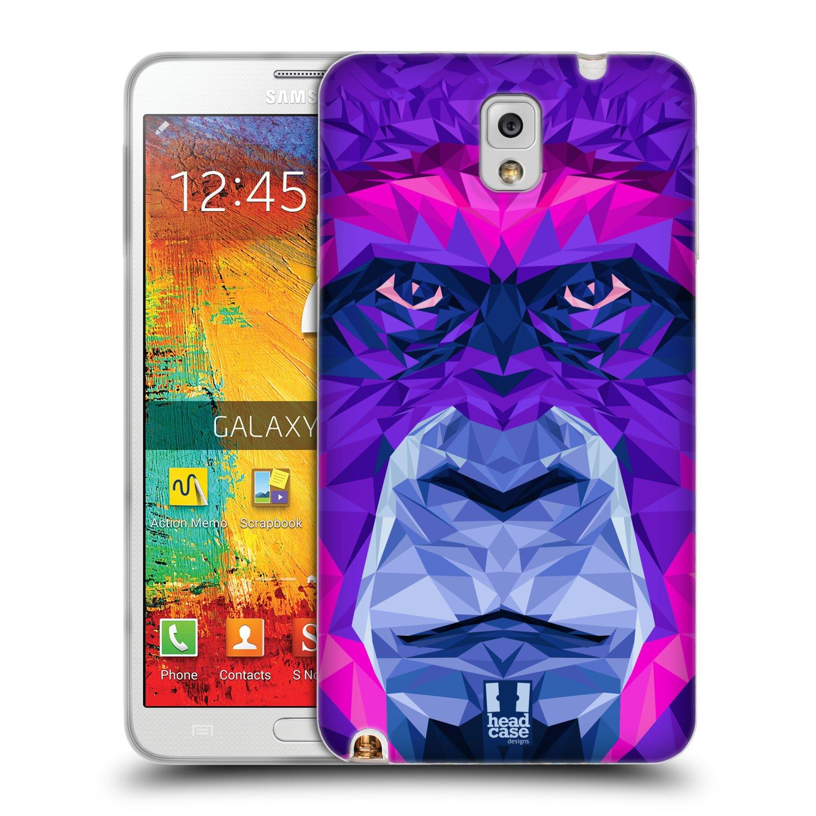 HEAD CASE silikonový obal na mobil Samsung Galaxy Note 3 (N9005) vzor Geometrická zvířata 2 Orangutan