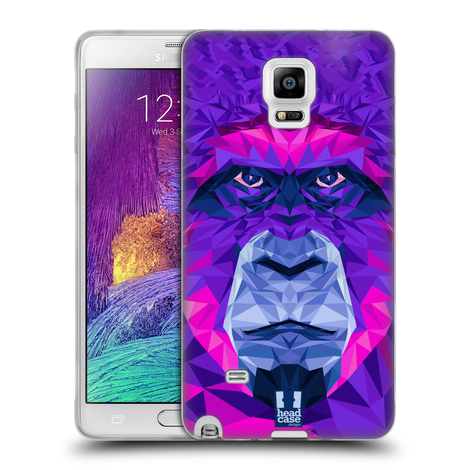 HEAD CASE silikonový obal na mobil Samsung Galaxy Note 4 (N910) vzor Geometrická zvířata 2 Orangutan