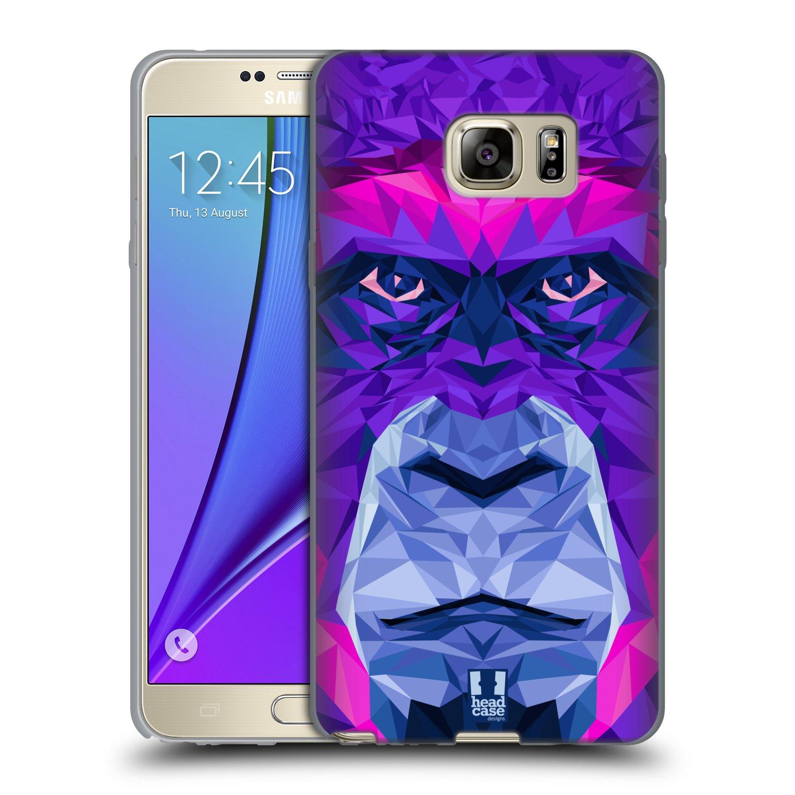 HEAD CASE silikonový obal na mobil Samsung Galaxy Note 5 (N920) vzor Geometrická zvířata 2 Orangutan