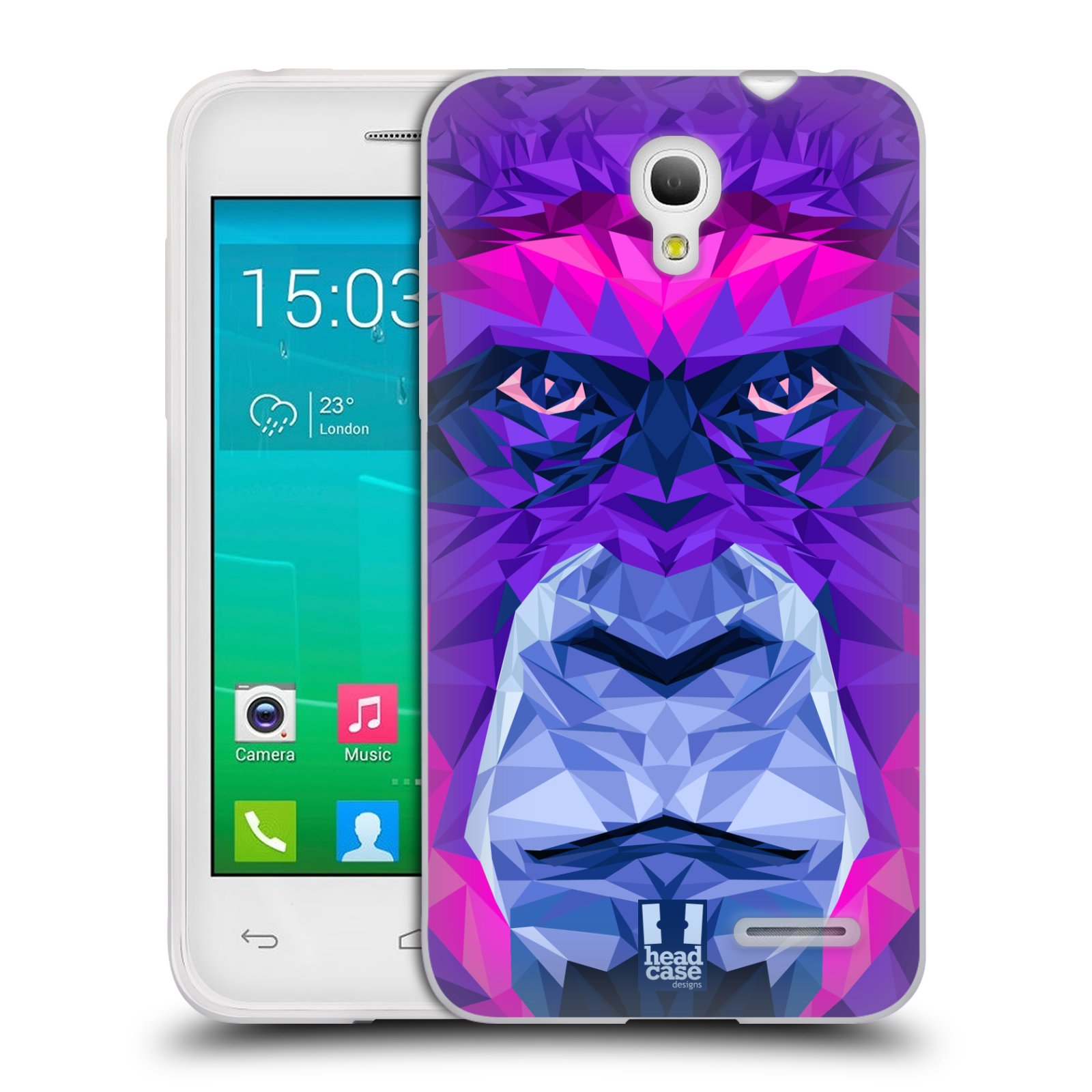 HEAD CASE silikonový obal na mobil Alcatel POP S3 OT-5050Y vzor Geometrická zvířata 2 Orangutan
