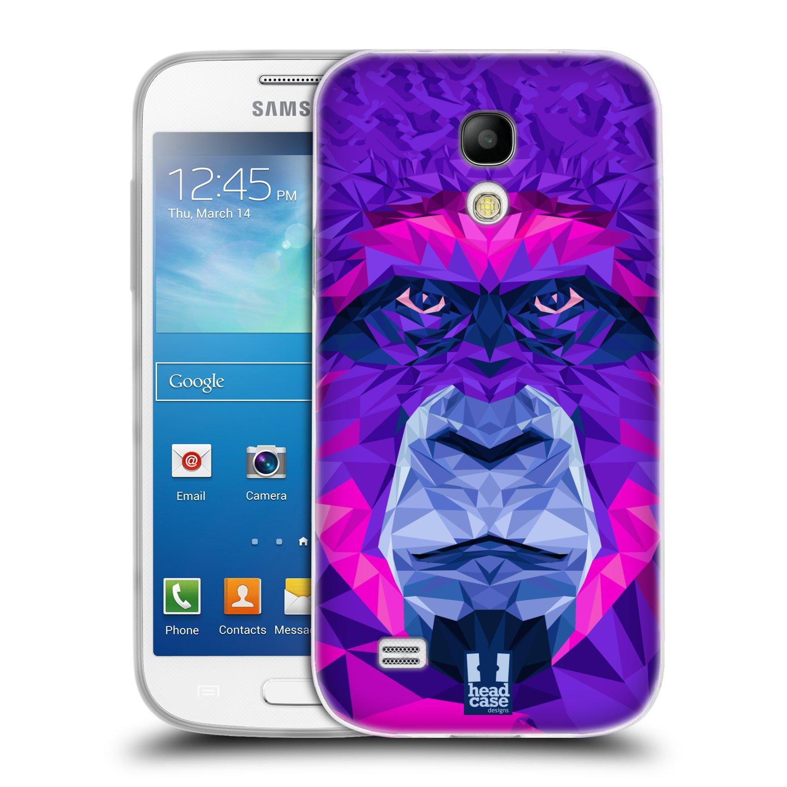 HEAD CASE silikonový obal na mobil Samsung Galaxy S4 MINI vzor Geometrická zvířata 2 Orangutan