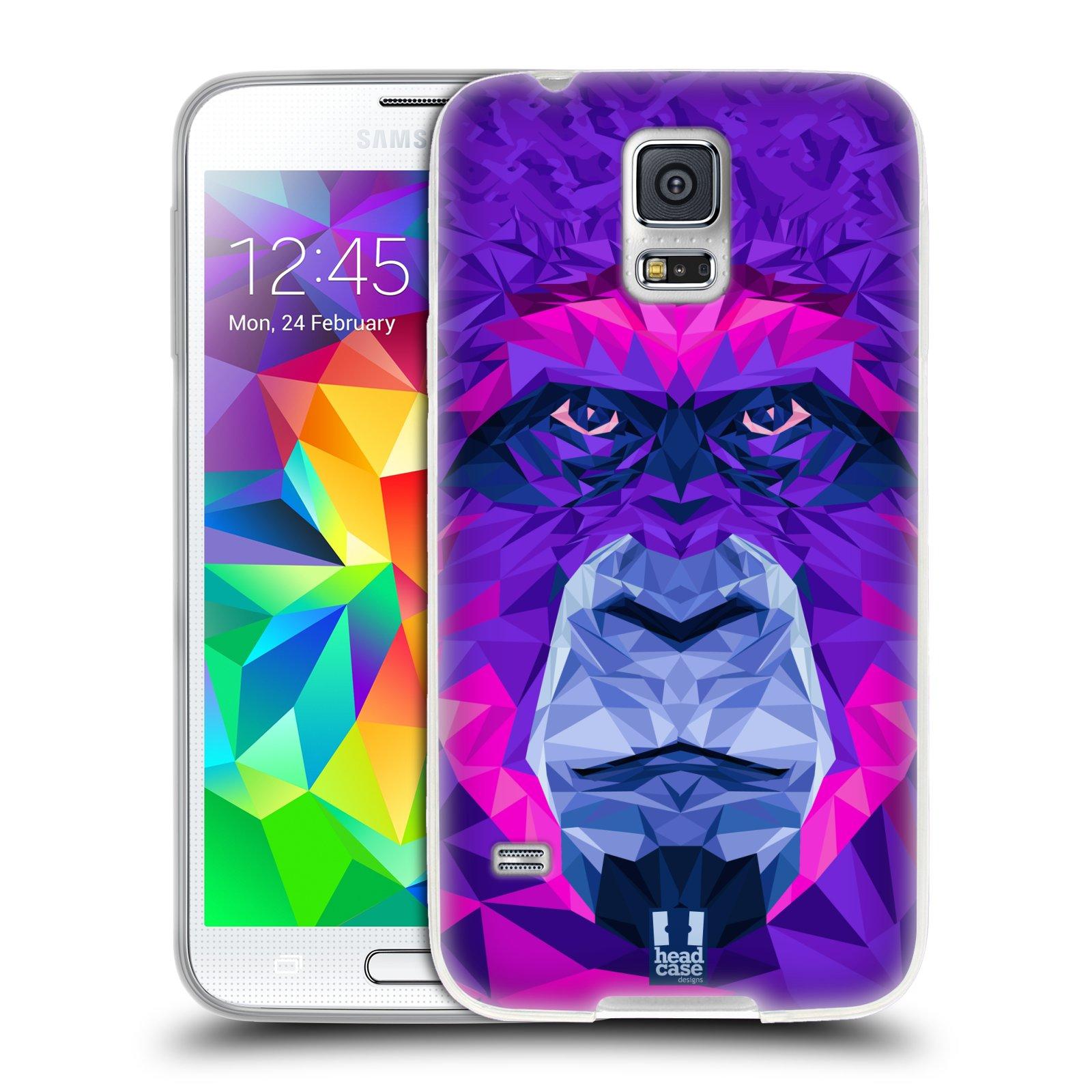 HEAD CASE silikonový obal na mobil Samsung Galaxy S5/S5 NEO vzor Geometrická zvířata 2 Orangutan