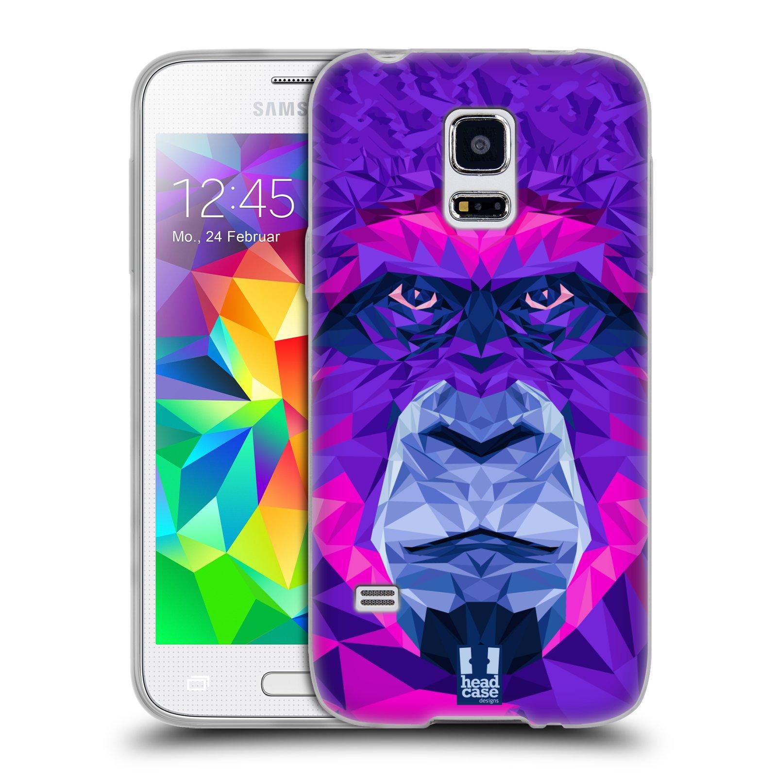 HEAD CASE silikonový obal na mobil Samsung Galaxy S5 MINI vzor Geometrická zvířata 2 Orangutan