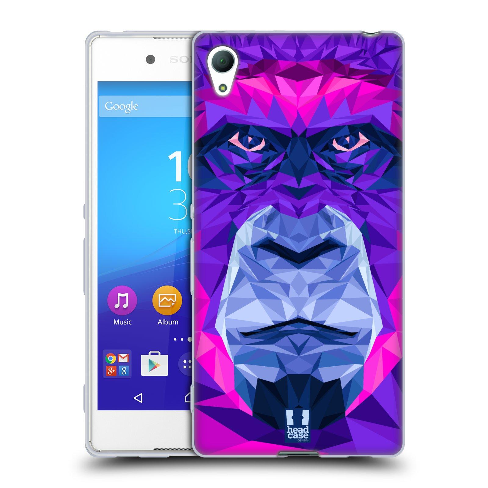 HEAD CASE silikonový obal na mobil Sony Xperia Z3 + (PLUS) vzor Geometrická zvířata 2 Orangutan