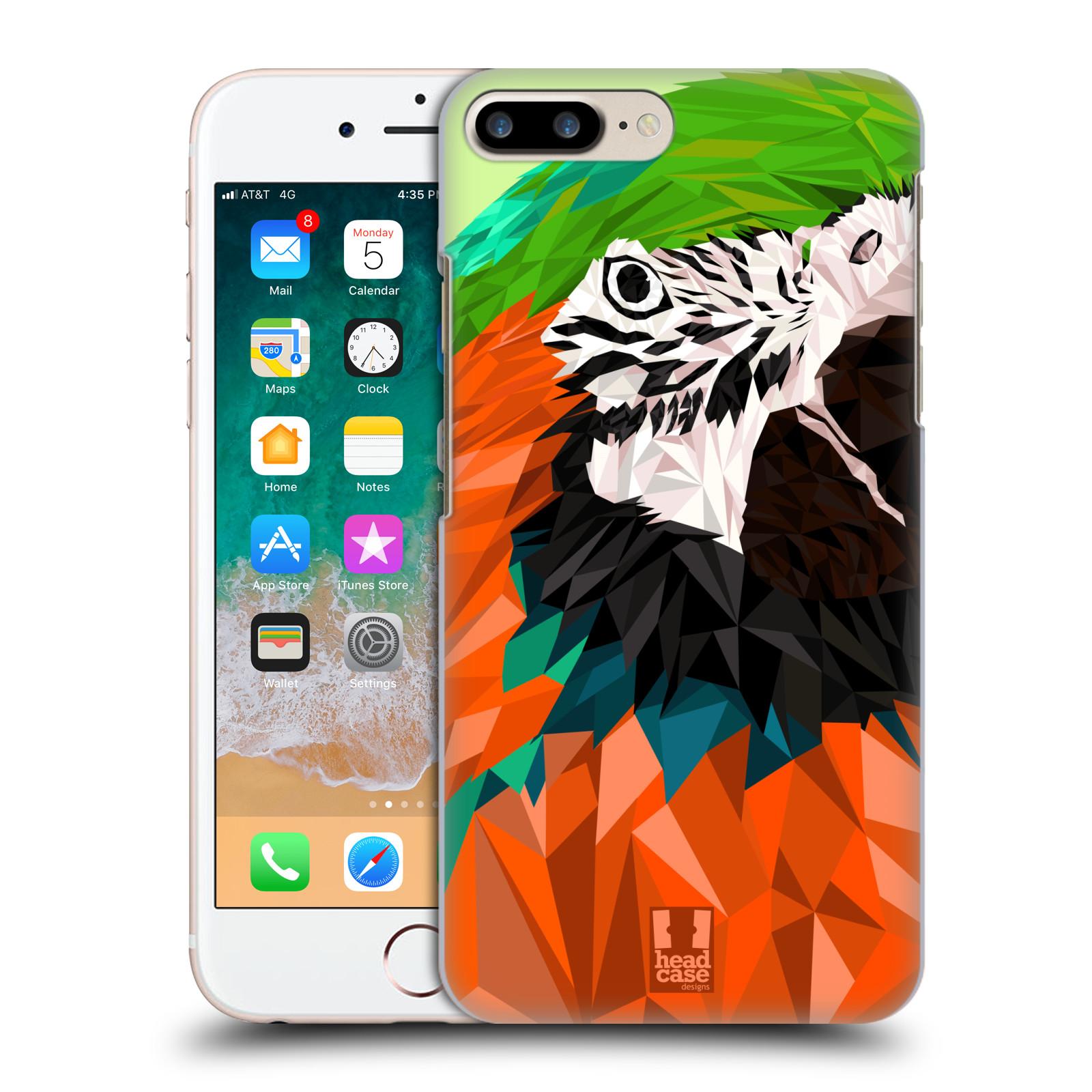 HEAD CASE plastový obal na mobil Apple Iphone 7 PLUS vzor Geometrická zvířata 2 papoušek