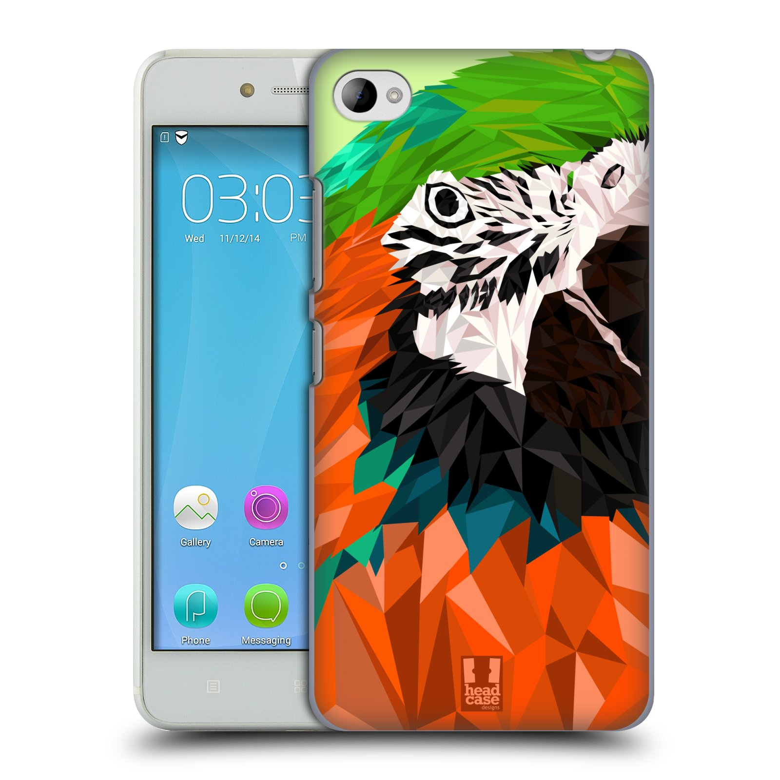 HEAD CASE pevný plastový obal na mobil LENOVO S90 vzor Geometrická zvířata 2 papoušek