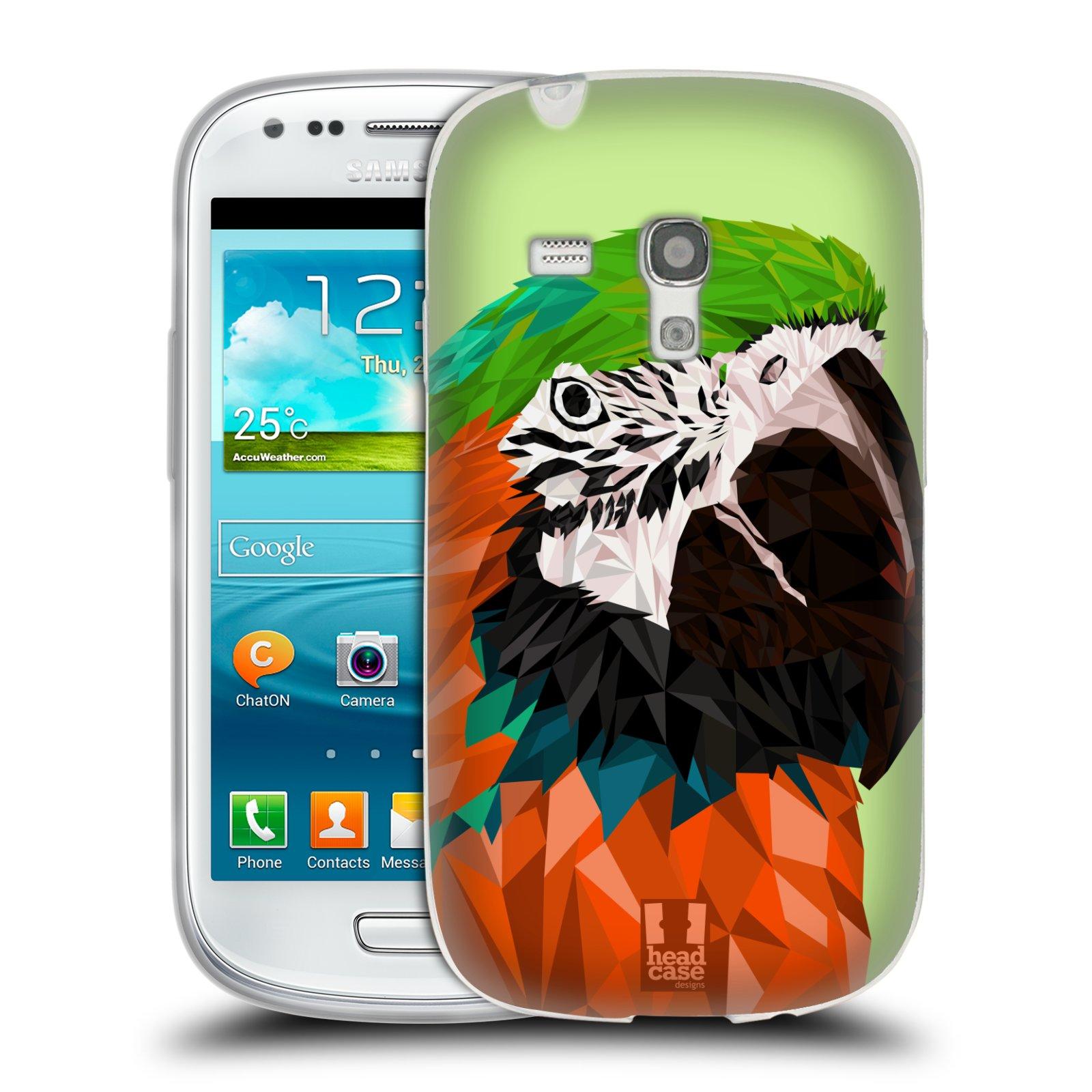 HEAD CASE silikonový obal na mobil Samsung Galaxy S3 MINI i8190 vzor Geometrická zvířata 2 papoušek