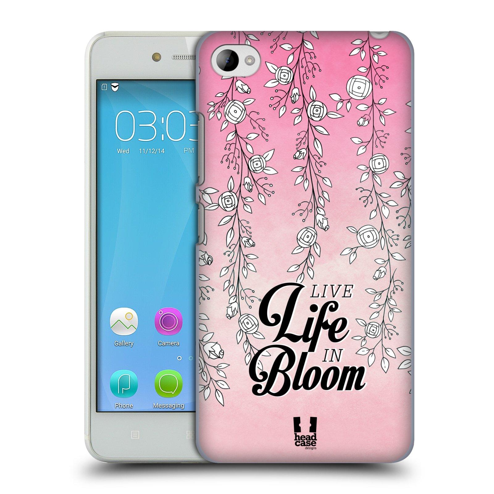HEAD CASE pevný plastový obal na mobil LENOVO S90 vzor Rětízky Girlanda květina