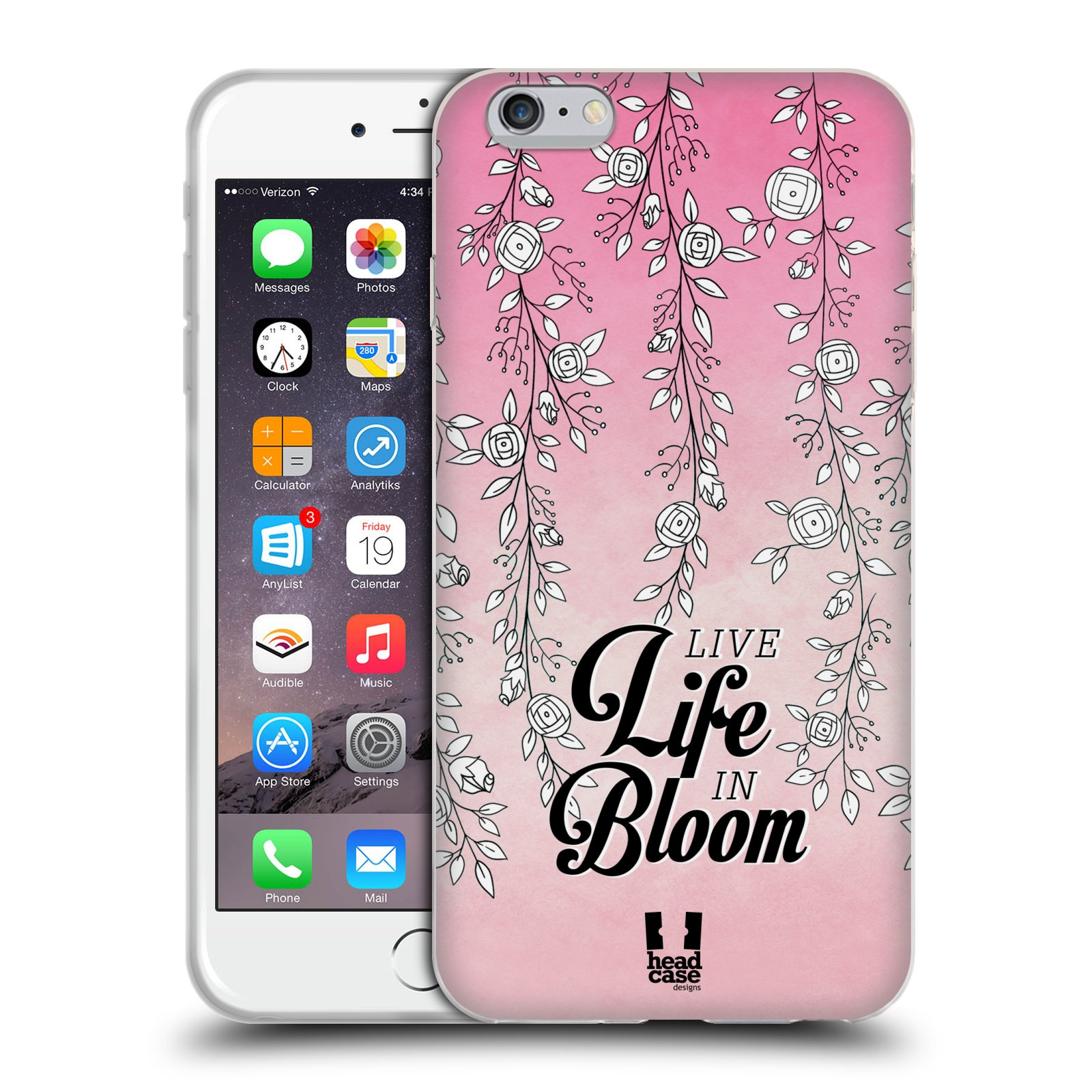 HEAD CASE silikonový obal na mobil Apple Iphone 6 PLUS/ 6S PLUS vzor Rětízky Girlanda květina