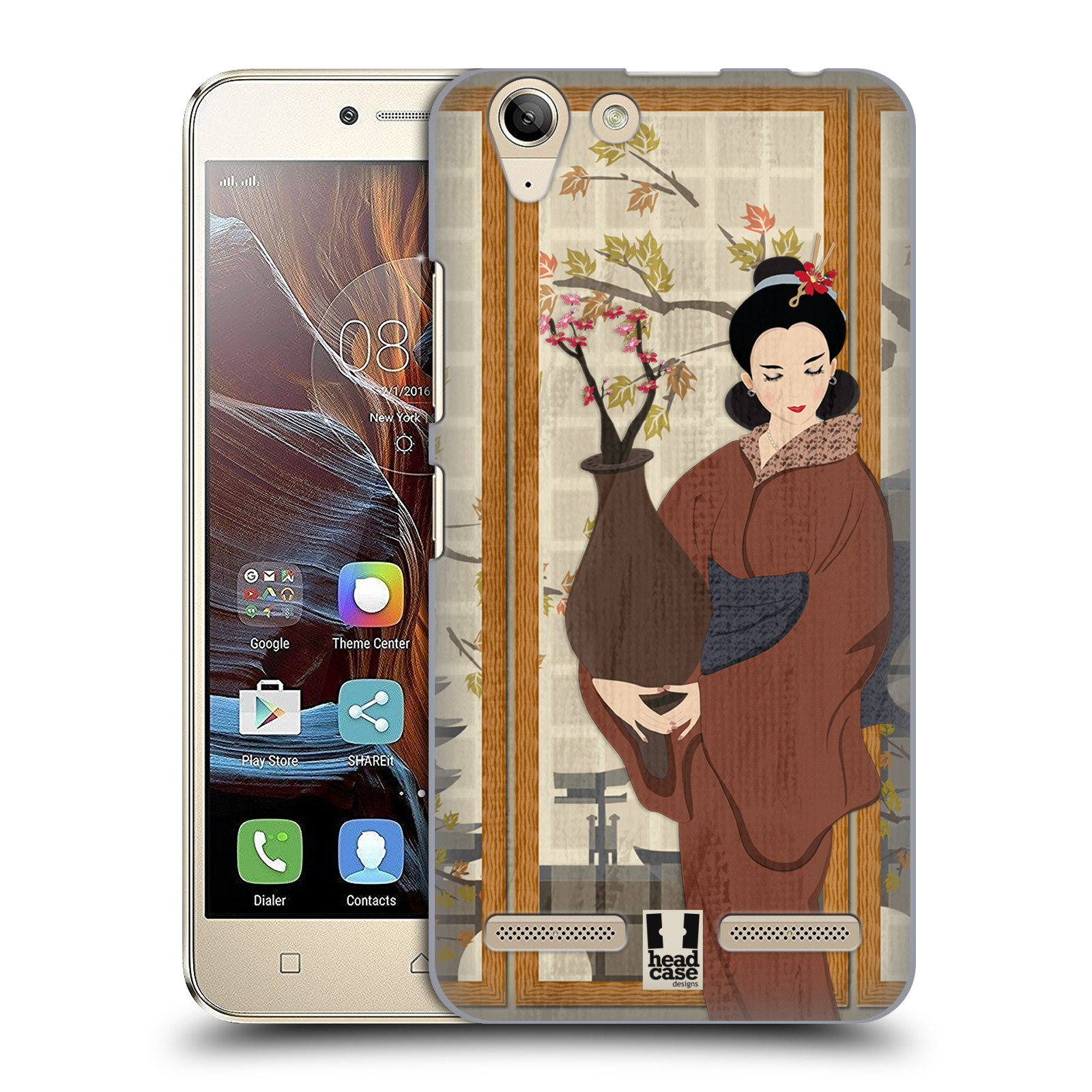 HEAD-CASE-DESIGNS-GEISHA-COVER-RETRO-RIGIDA-PER-LENOVO-VIBE-K5