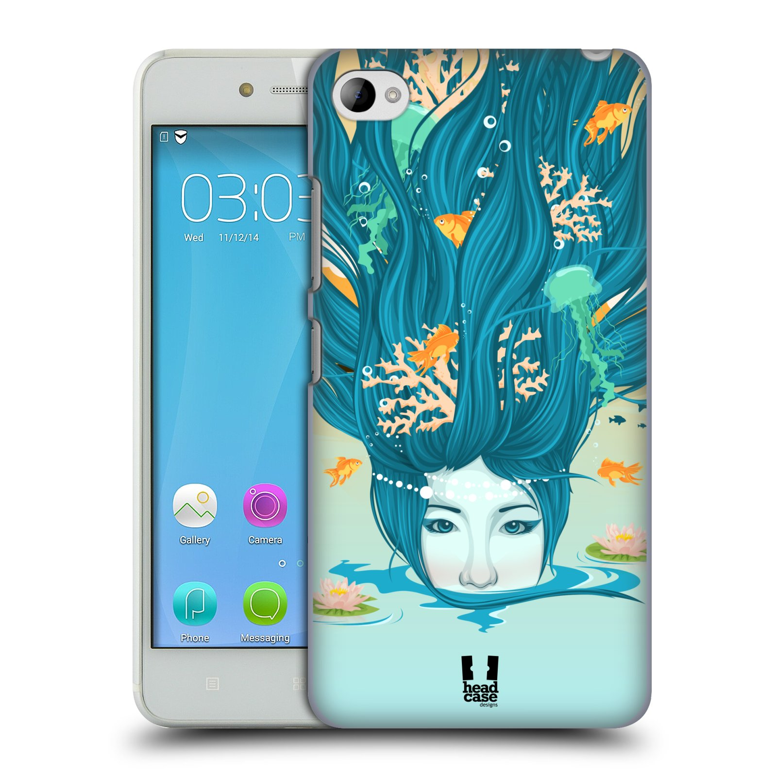 HEAD CASE pevný plastový obal na mobil LENOVO S90 vzor Žena element VODA modrá