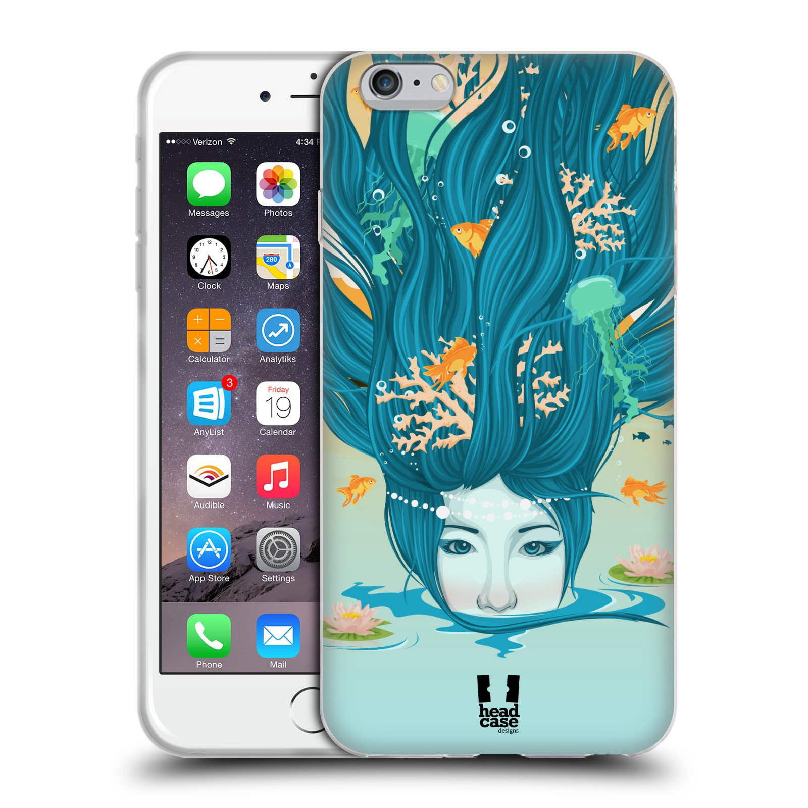 HEAD CASE silikonový obal na mobil Apple Iphone 6 PLUS/ 6S PLUS vzor Žena element VODA modrá
