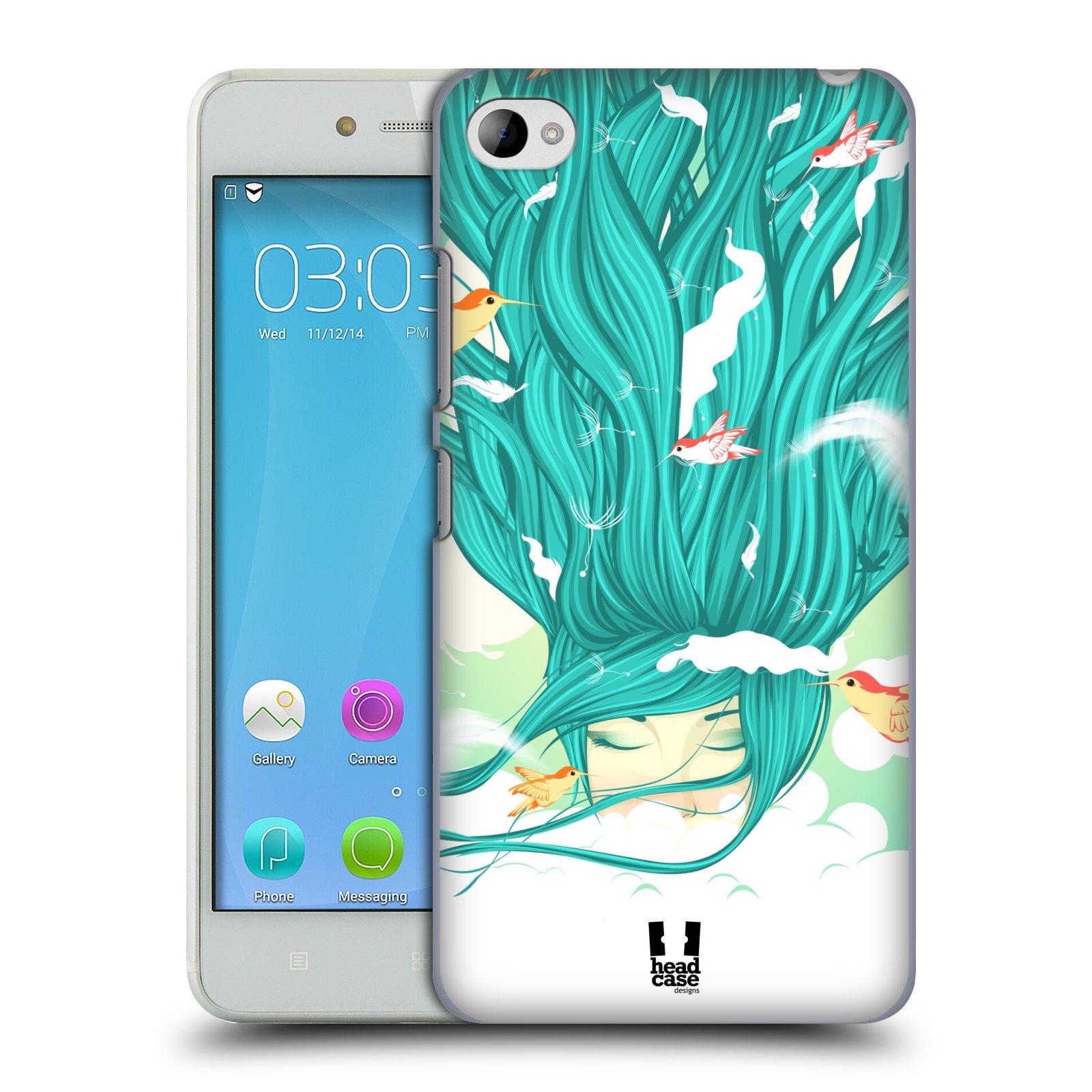 HEAD CASE pevný plastový obal na mobil LENOVO S90 vzor Žena element VÍTR modrá