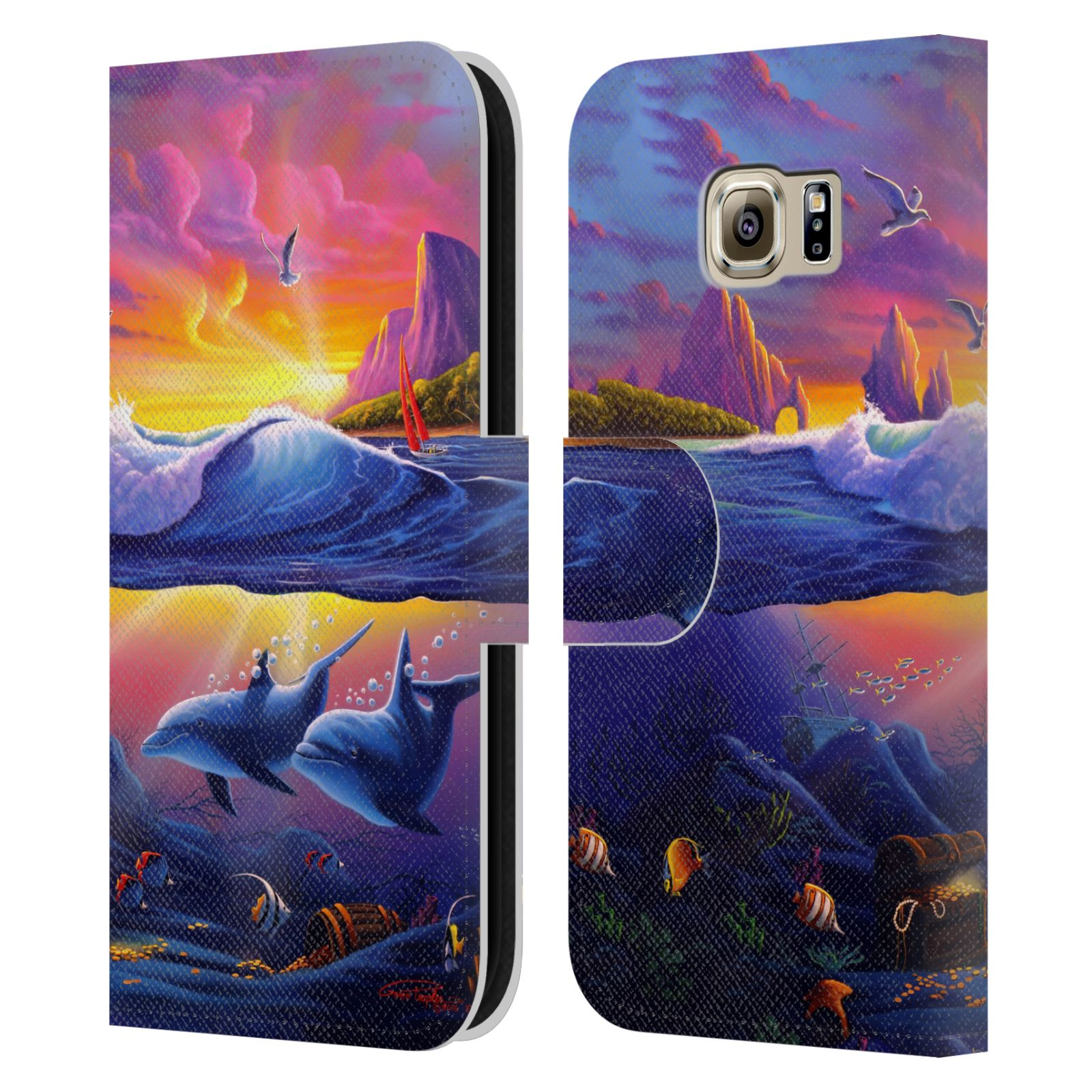 OFFICIAL-GENO-PEOPLES-ART-HOLIDAY-LEATHER-BOOK-WALLET-CASE-FOR-SAMSUNG-PHONES-1