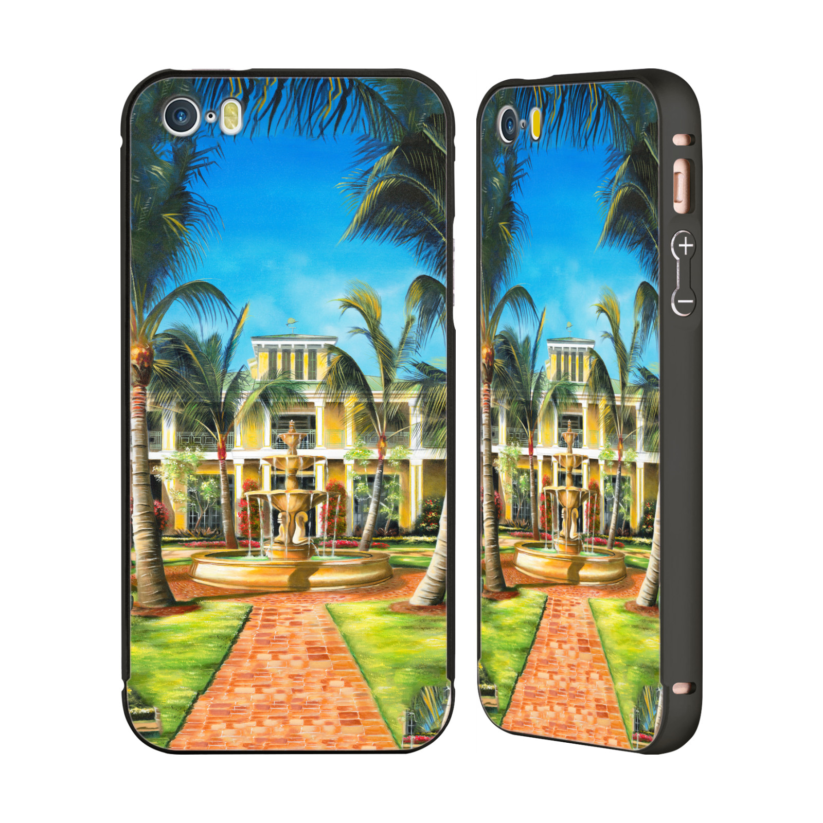 OFFICIAL-GENO-PEOPLES-ART-HOLIDAY-BLACK-SLIDER-CASE-FOR-APPLE-iPHONE-PHONES