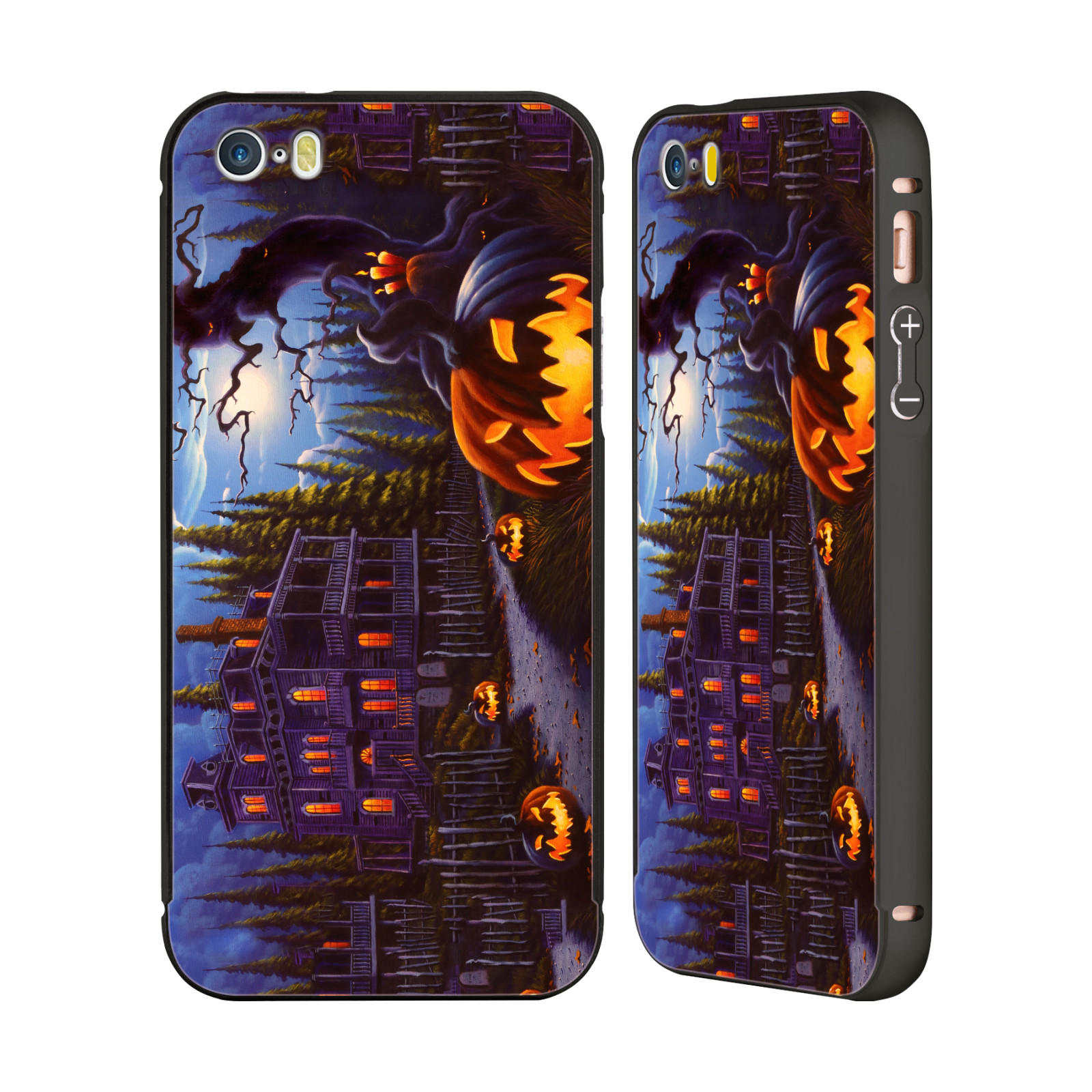 OFFICIAL-GENO-PEOPLES-ART-HALLOWEEN-BLACK-SLIDER-CASE-FOR-APPLE-iPHONE-PHONES