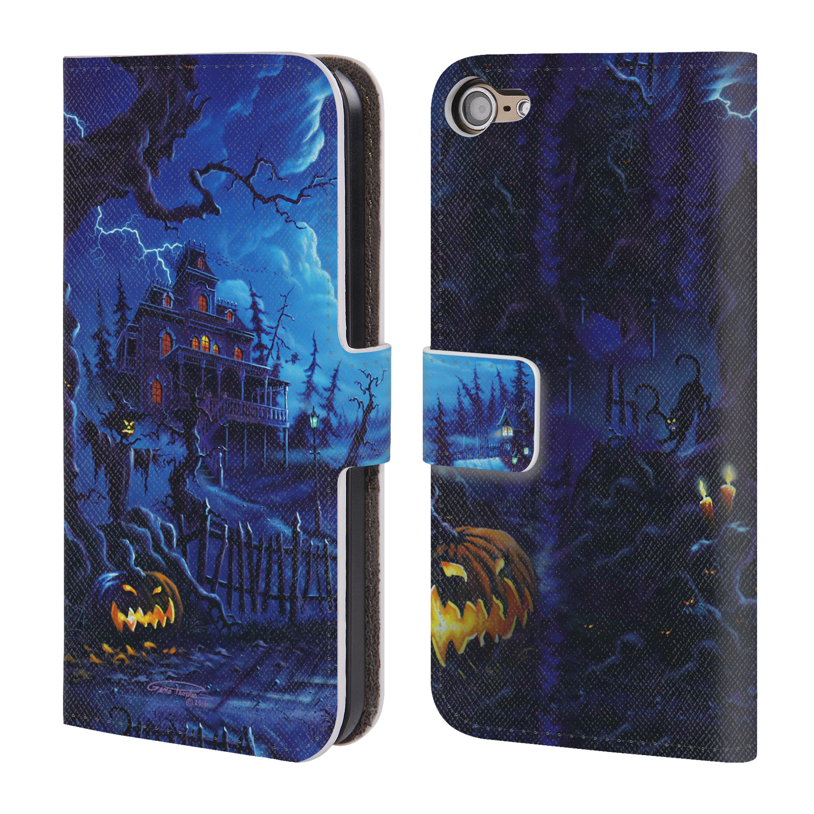 GENO-PEOPLES-ART-HALLOWEEN-COVER-A-PORTAFOGLIO-IN-PELLE-PER-APPLE-iPOD-TOUCH-MP3